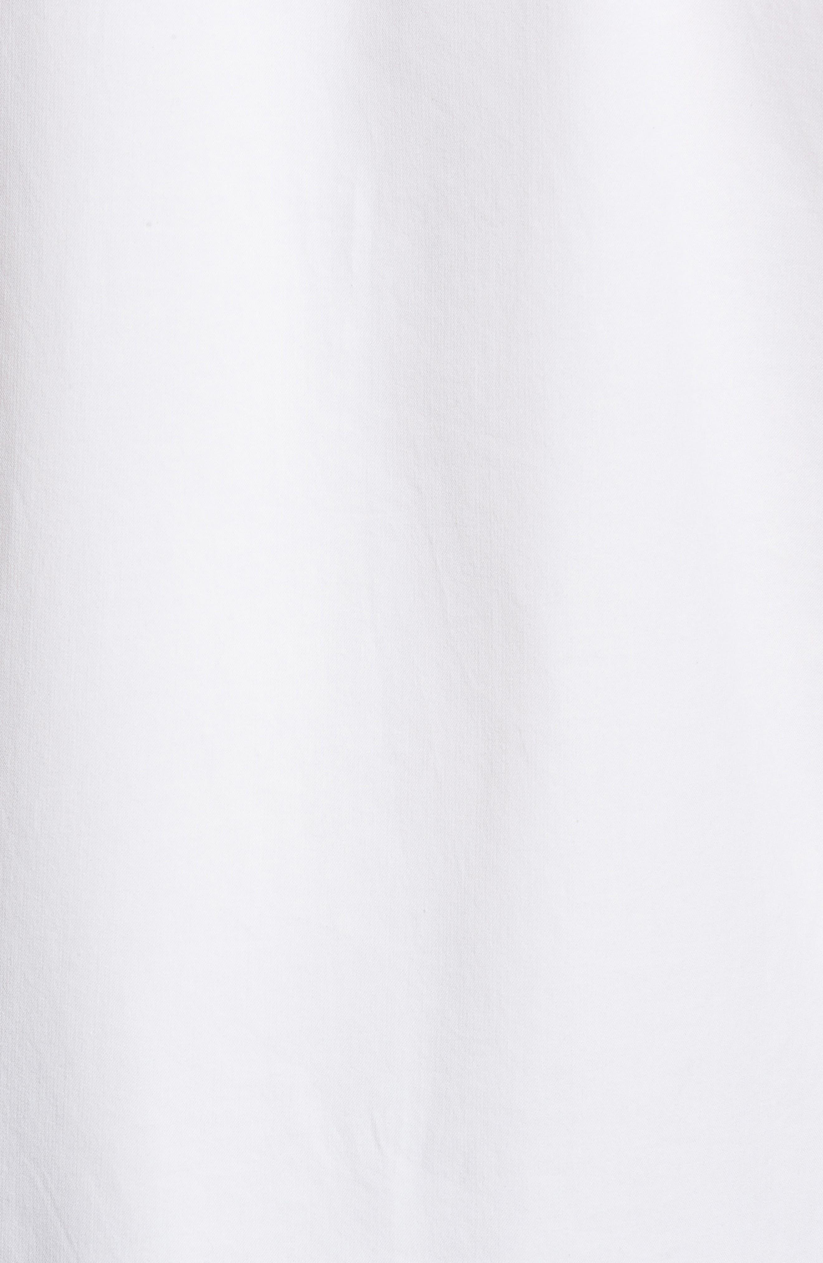 Oasis Twill Sport Shirt,                             Alternate thumbnail 5, color,                             WHITE