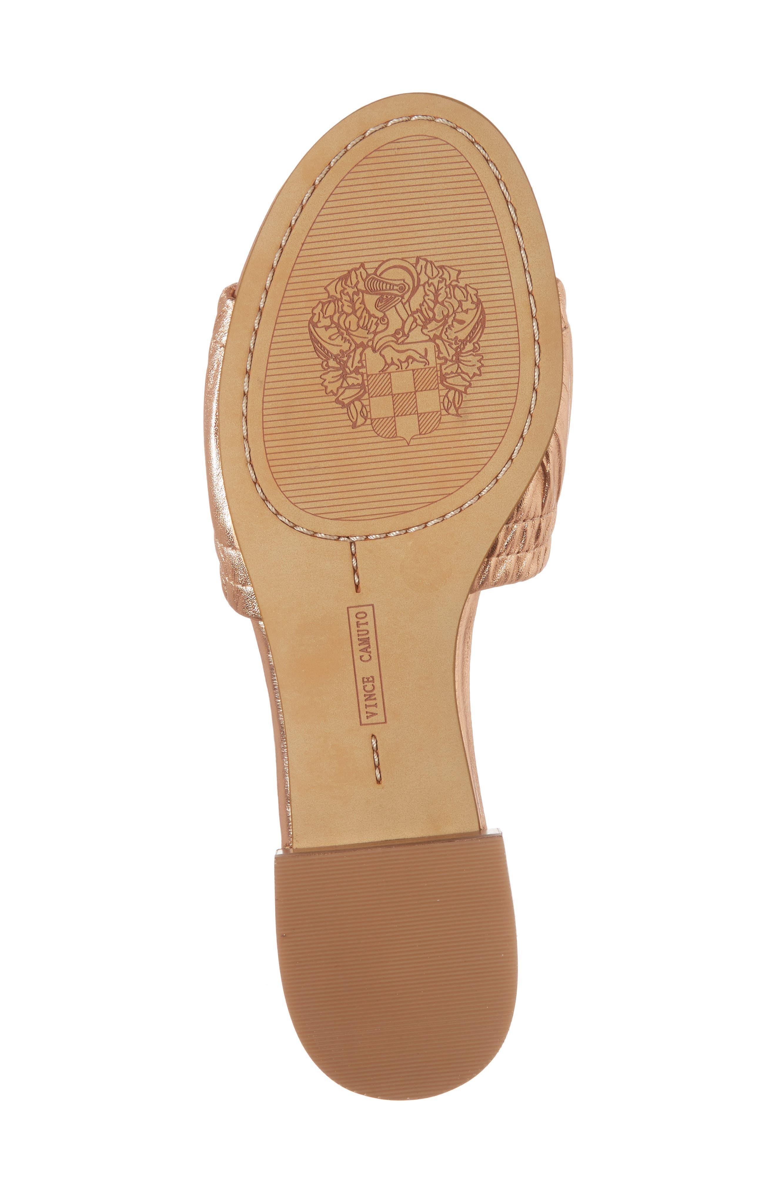 Nanita Pleated Slide Sandal,                             Alternate thumbnail 22, color,
