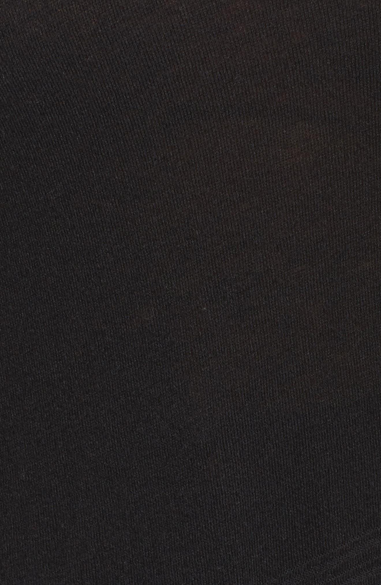Asymmetrical Hem Sweater,                             Alternate thumbnail 5, color,                             001