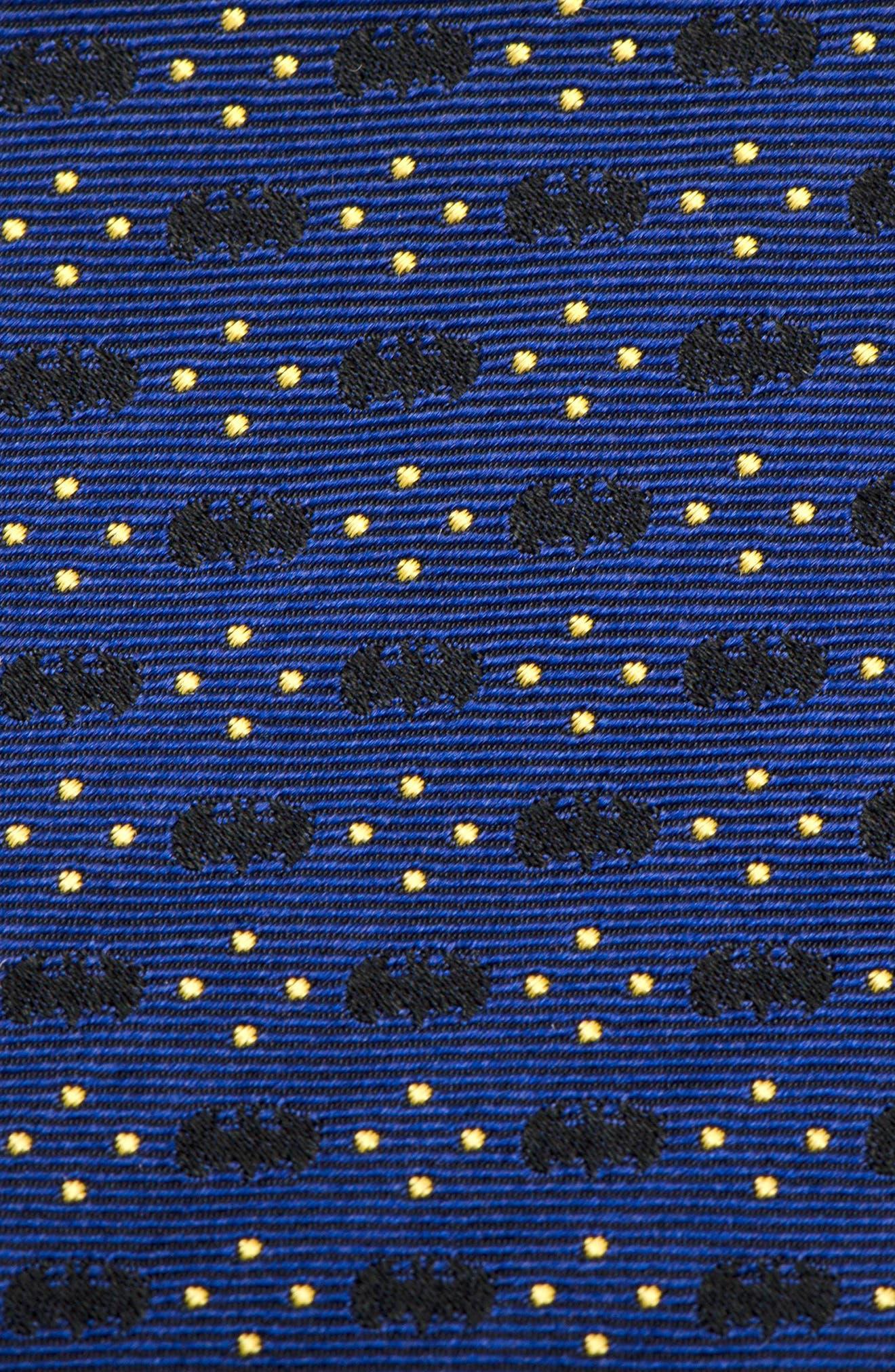 Batman Diamond Dot Silk Tie,                             Alternate thumbnail 3, color,                             410