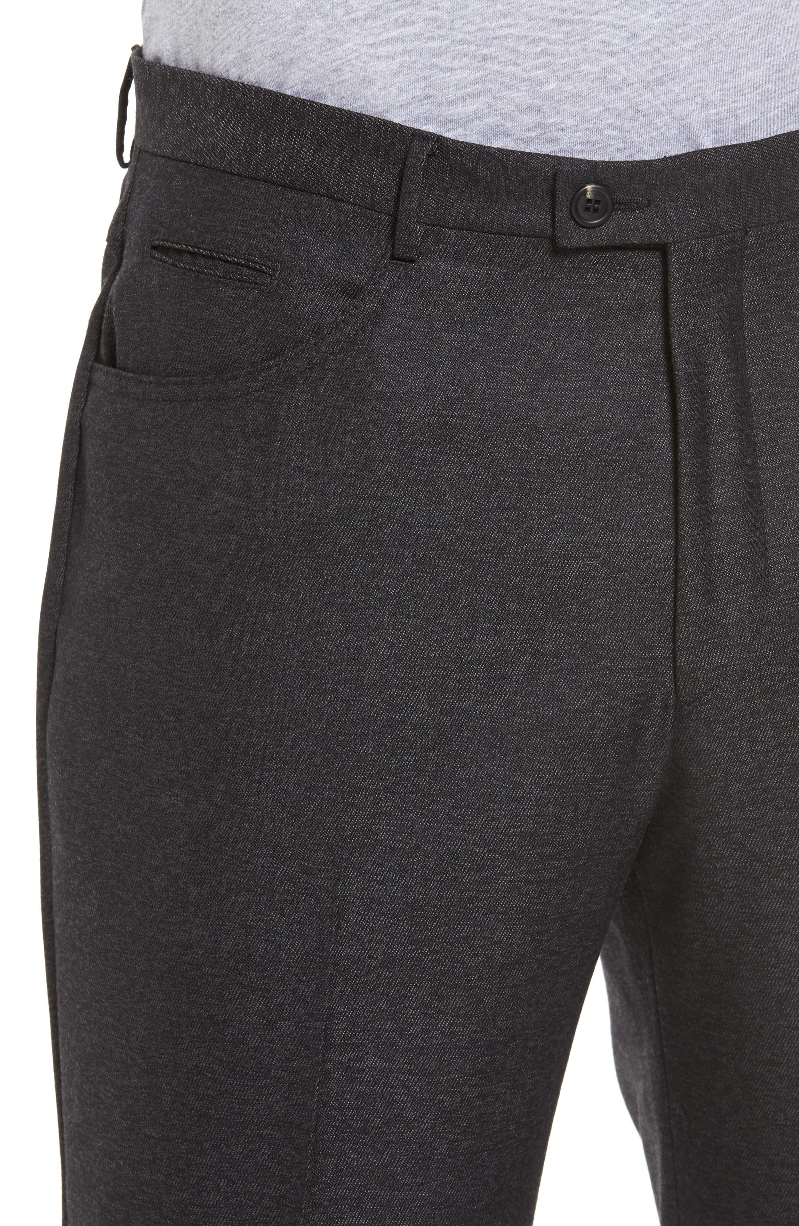 Sartorial Wool Five-Pocket Pants,                             Alternate thumbnail 4, color,                             001