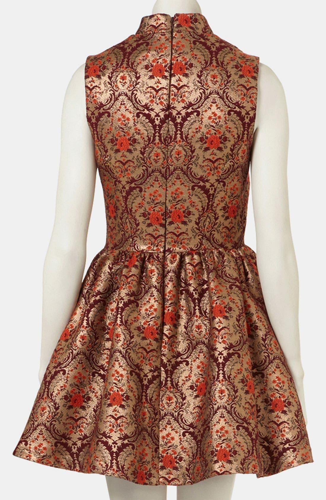 Jacquard Skater Dress,                             Alternate thumbnail 3, color,                             930