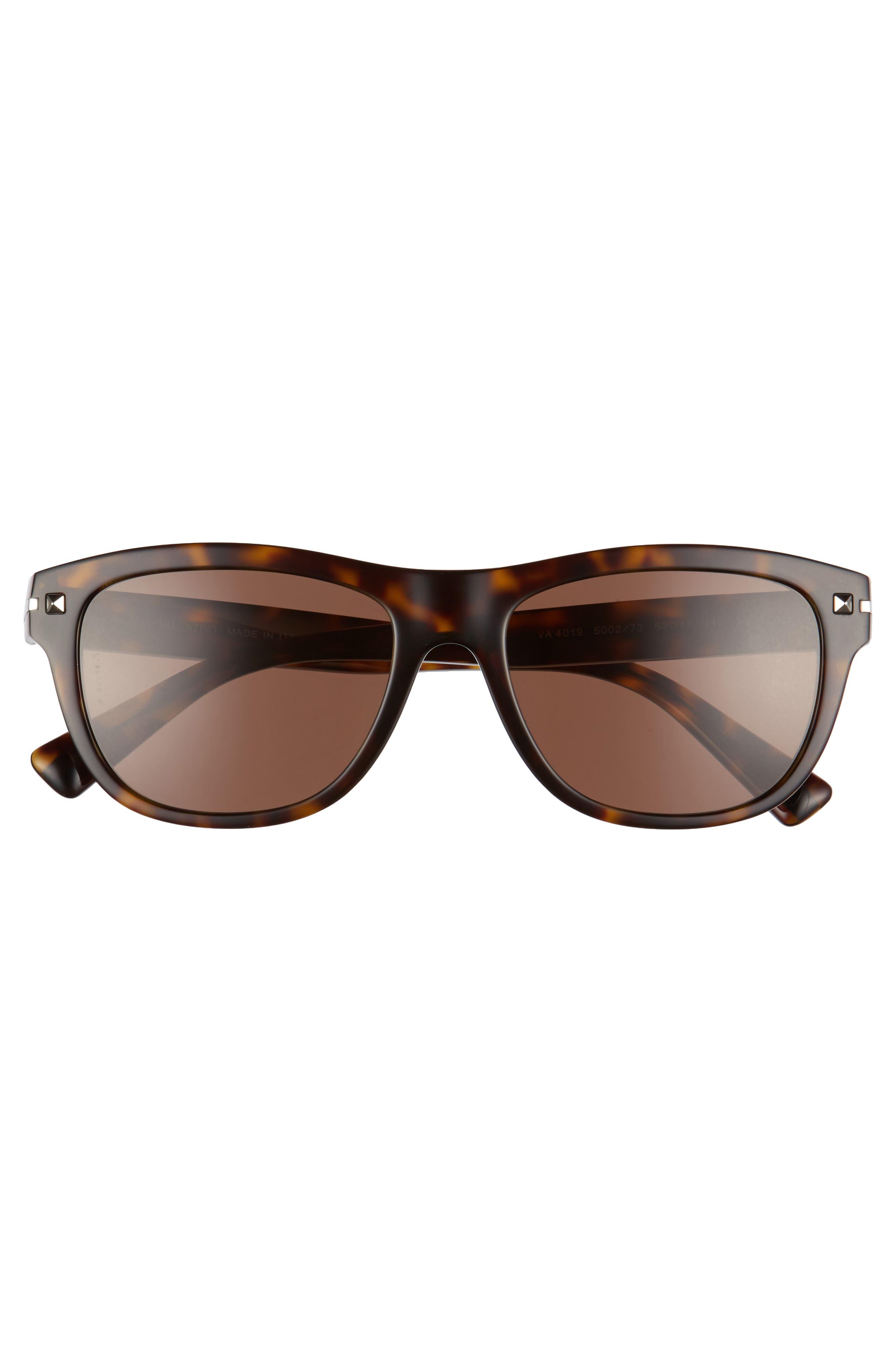 53mm Sunglasses,                             Alternate thumbnail 3, color,                             BROWN/ HAVANA