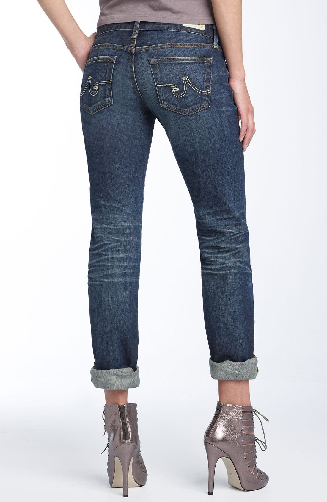 'The Tomboy' Relaxed Straight Leg Jeans,                         Main,                         color,