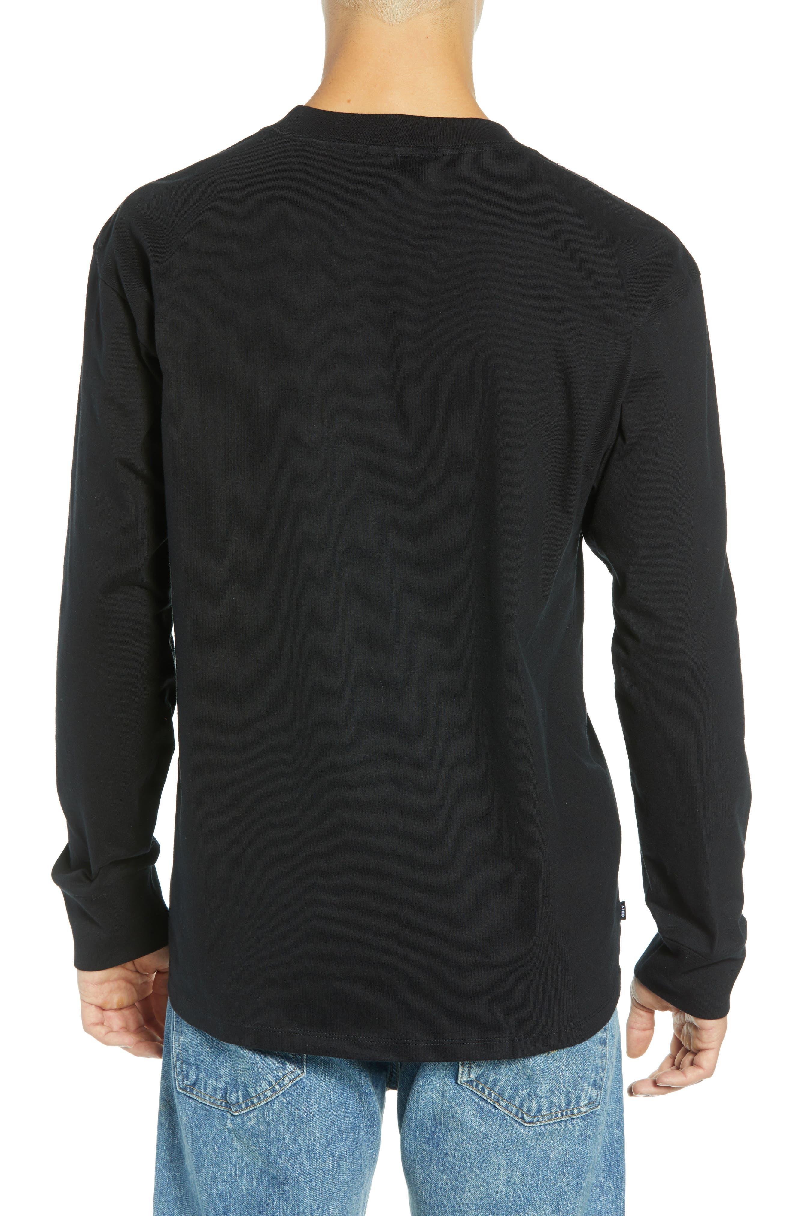 Eighty-Nine Solid Box Long Sleeve T-Shirt,                             Alternate thumbnail 2, color,                             BLACK MULTI