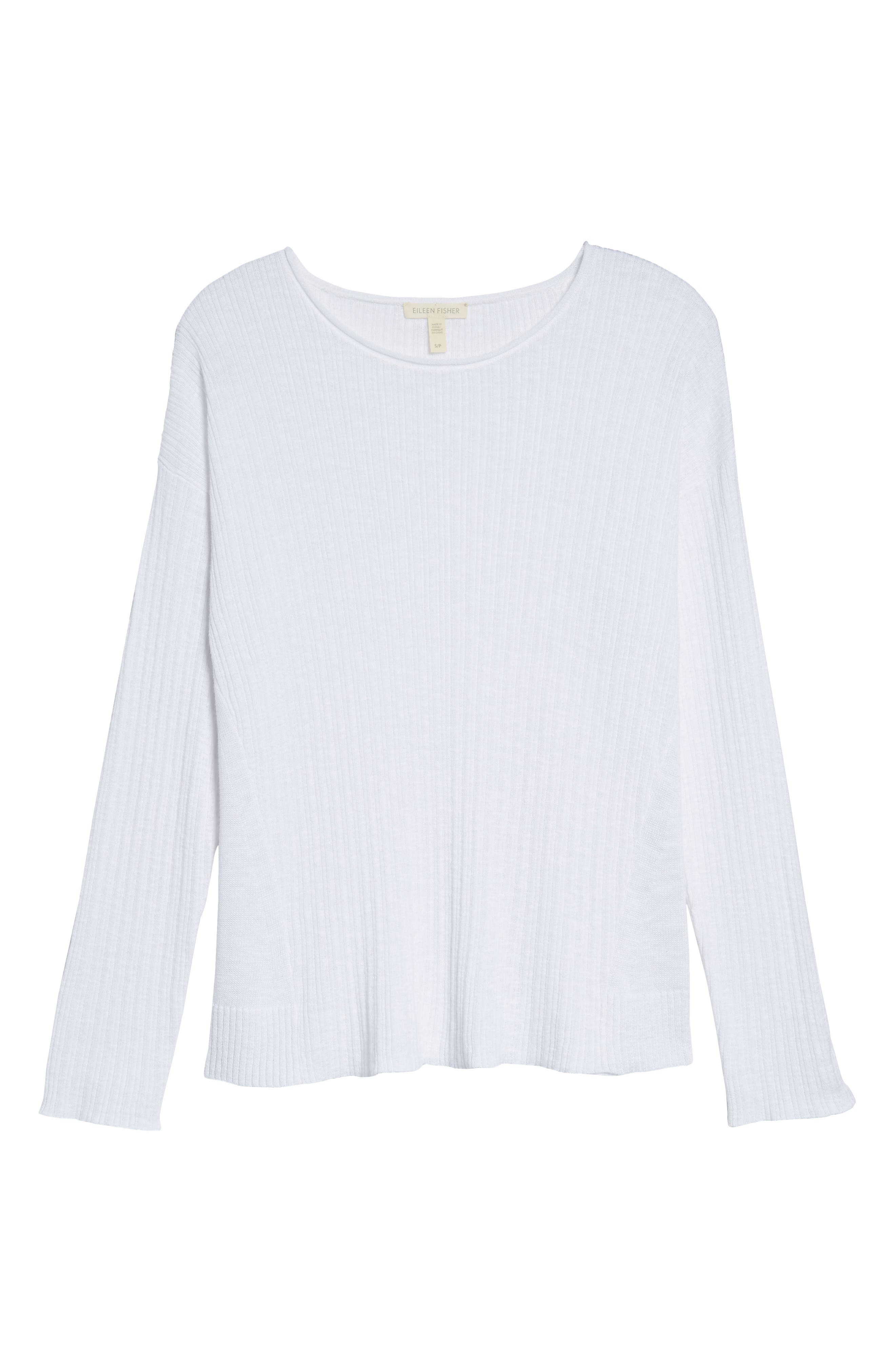 Organic Linen & Cotton Crewneck Sweater,                             Alternate thumbnail 26, color,