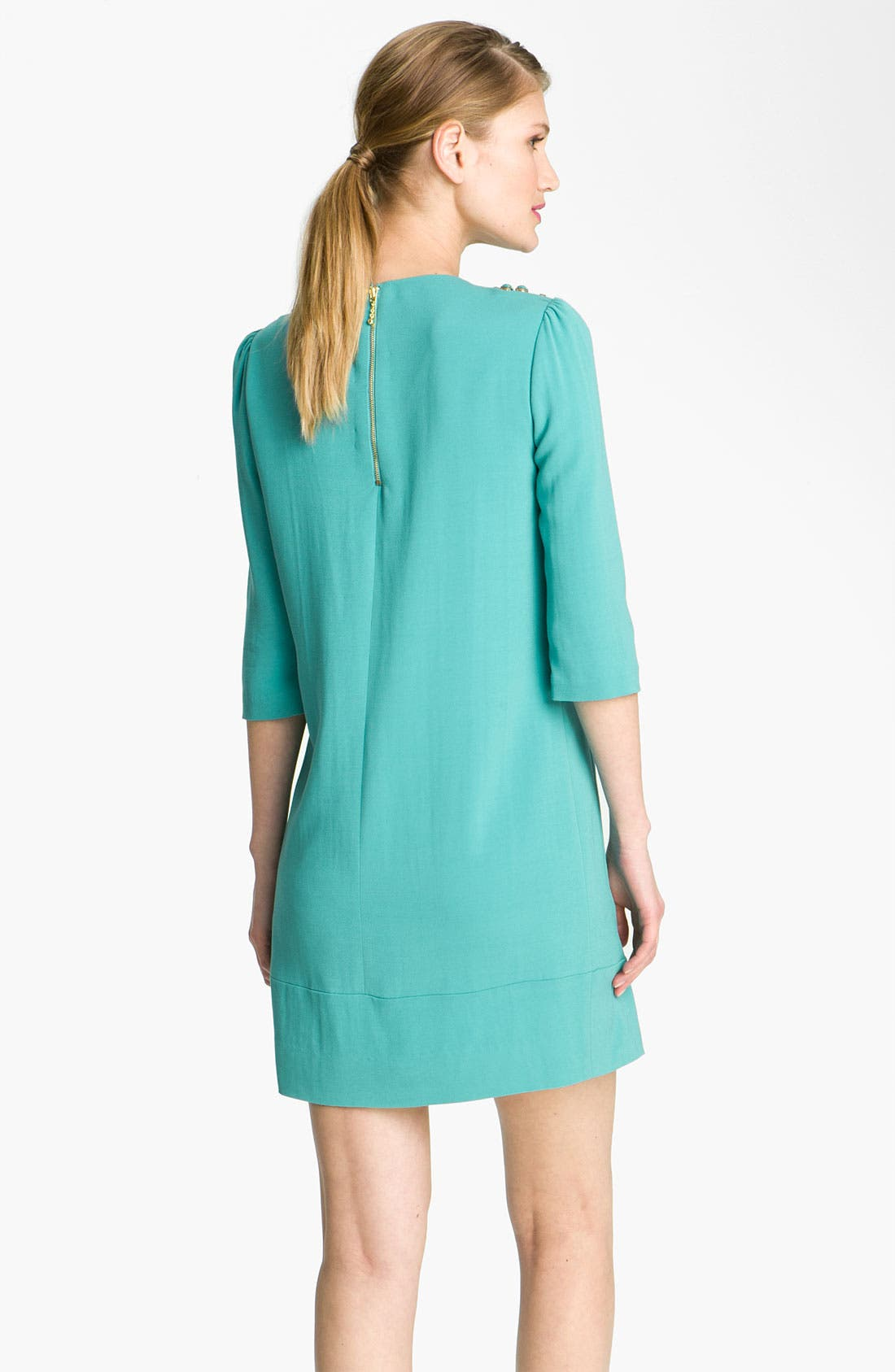 KATE SPADE NEW YORK,                             'vanessa' embellished dress,                             Alternate thumbnail 3, color,                             440