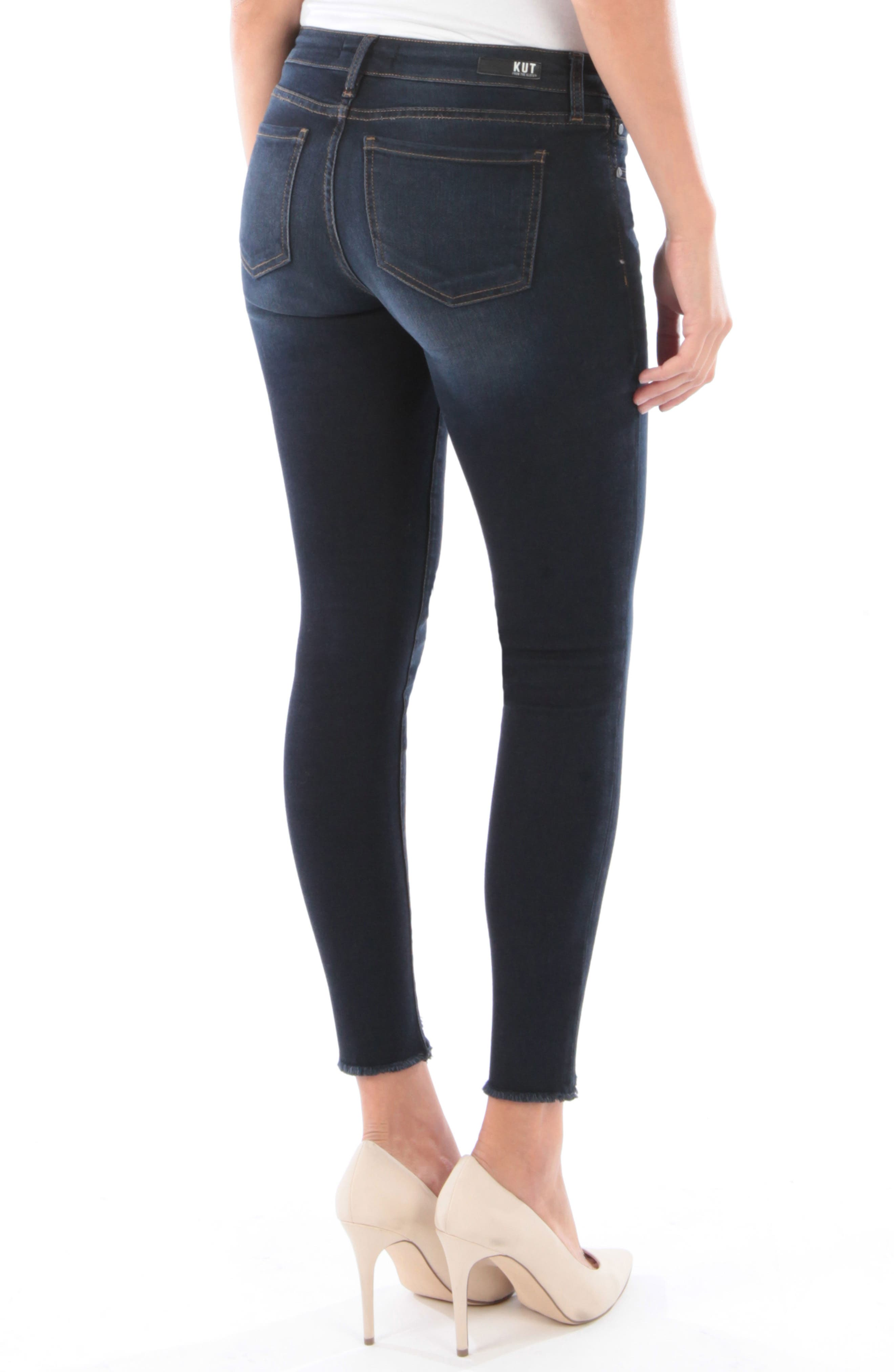 Connie Frayed Step Hem Ankle Skinny Jeans,                             Alternate thumbnail 2, color,                             428