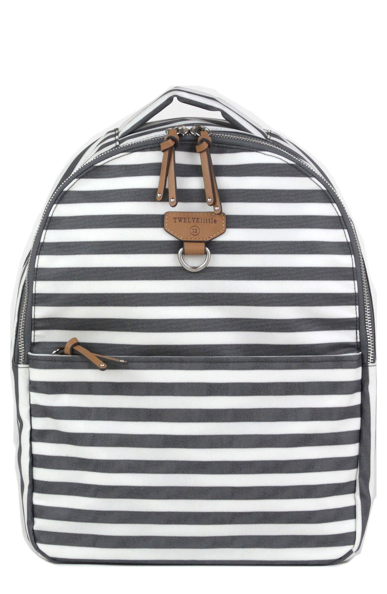 Mini-Go Water Resistant Diaper Backpack,                         Main,                         color, STRIPE