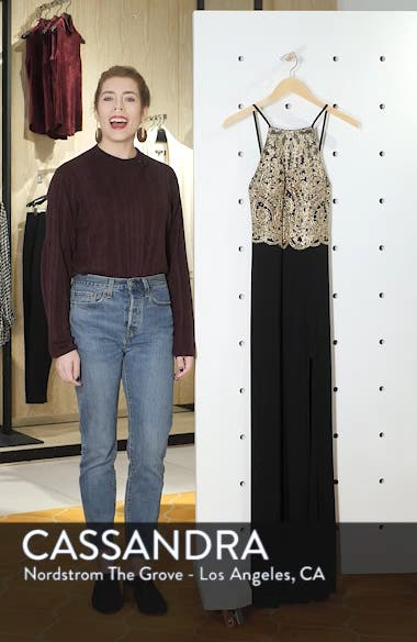 Embellished Appliqué Halter Gown, sales video thumbnail