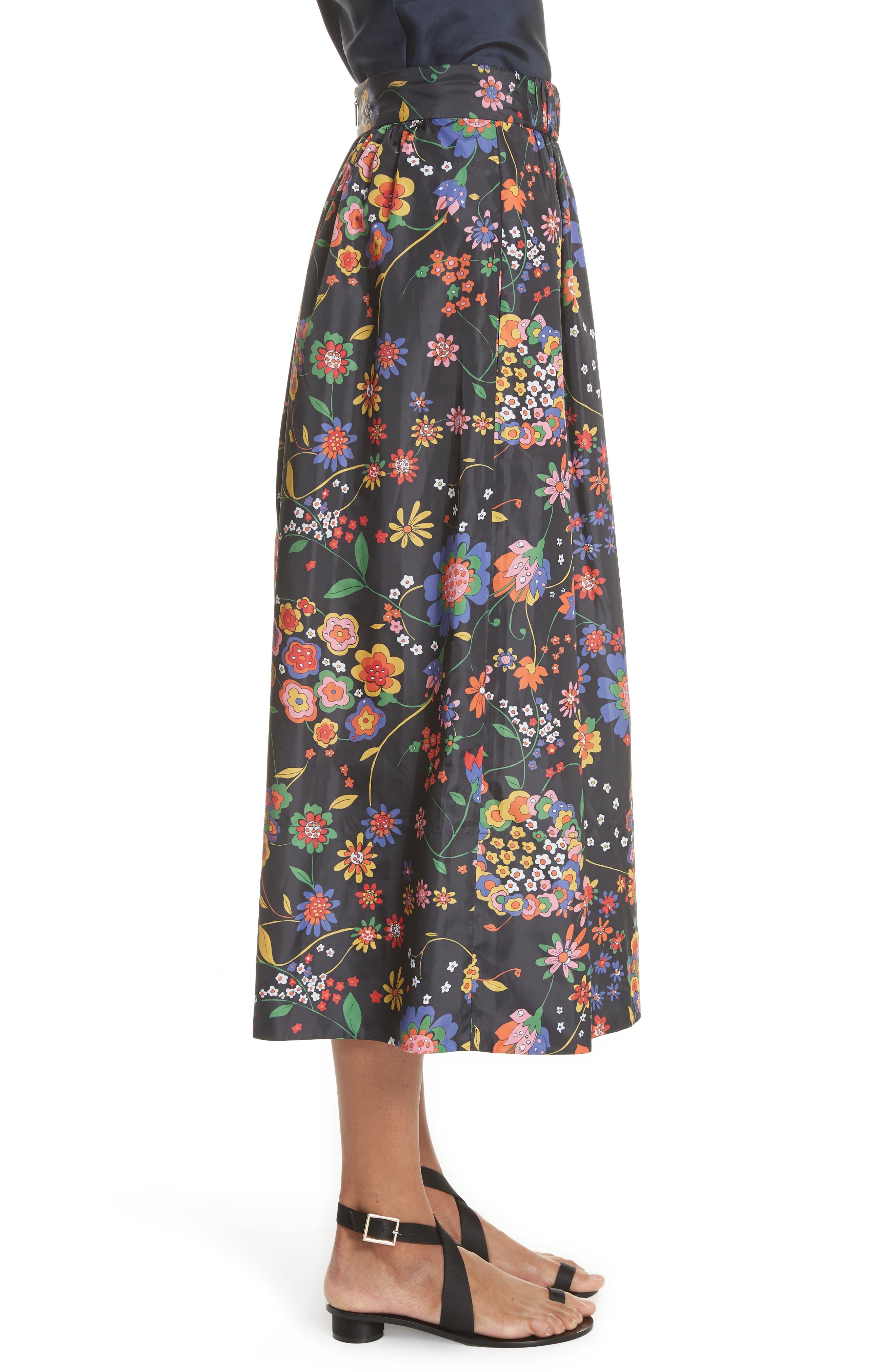 Print Tech Floral Skirt,                             Alternate thumbnail 3, color,                             402