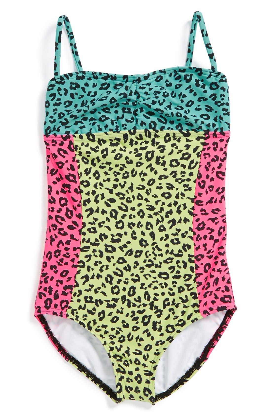 Animal Print Swimsuit,                             Main thumbnail 1, color,                             903