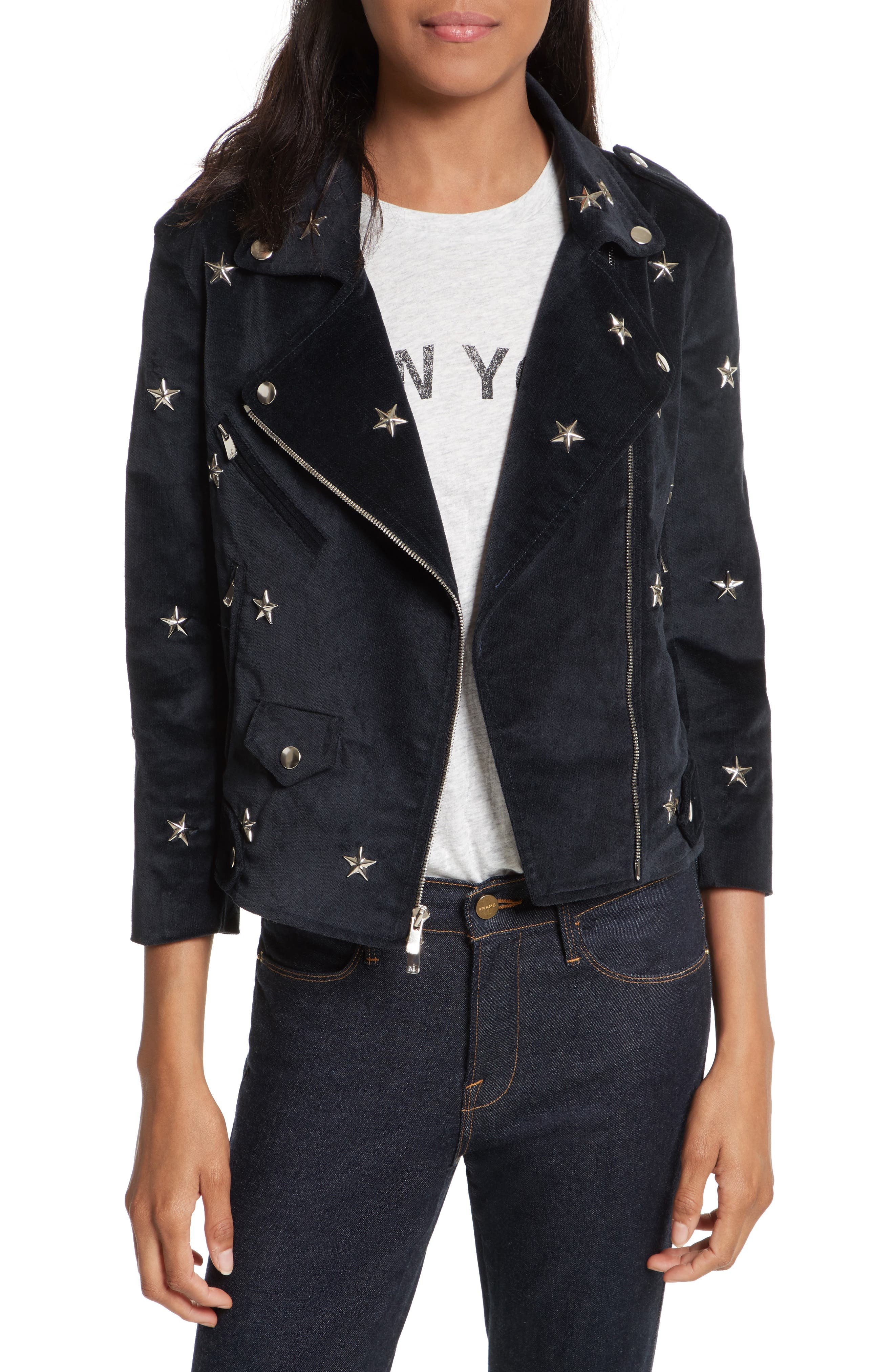 Wes Star Stud Moto Jacket,                         Main,                         color, 410