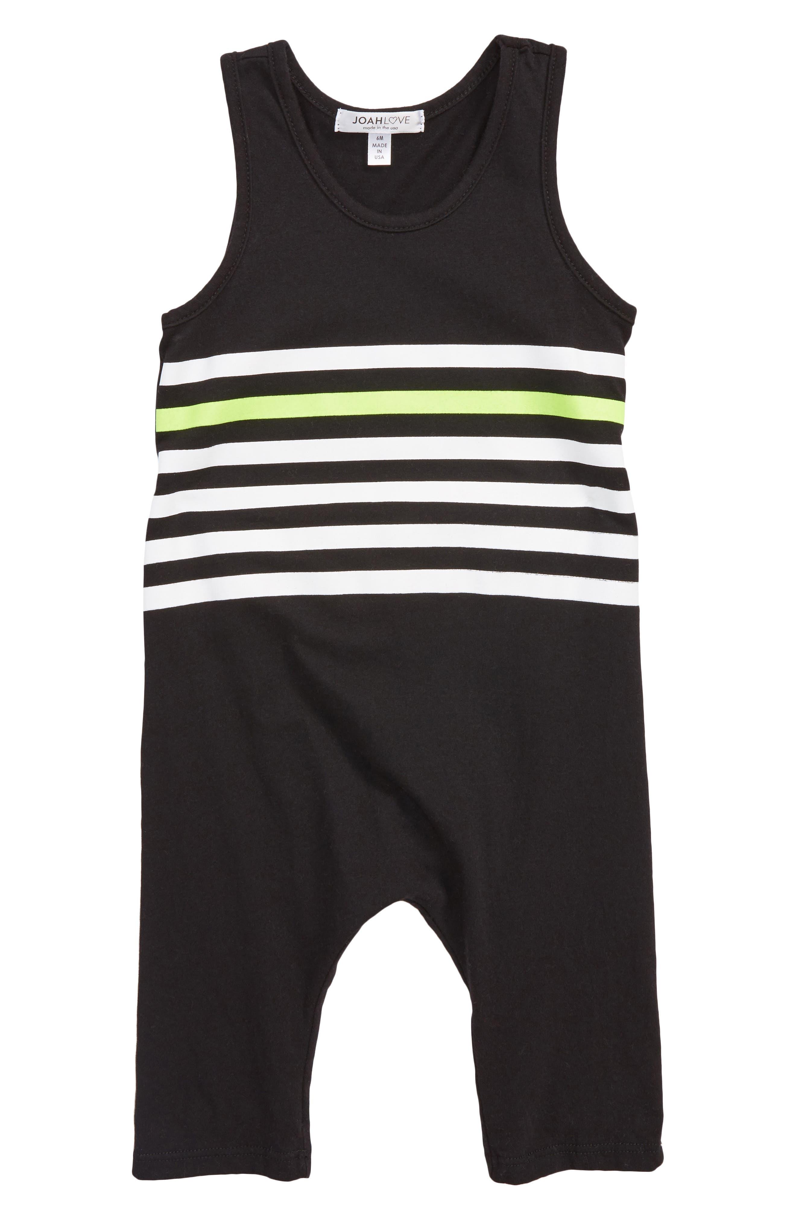 Stripe Romper,                         Main,                         color, 001