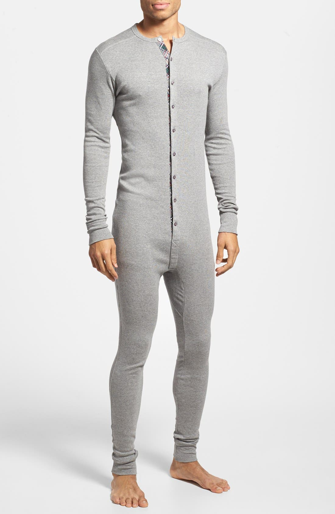 'Tartan' Union Suit, Main, color, 062