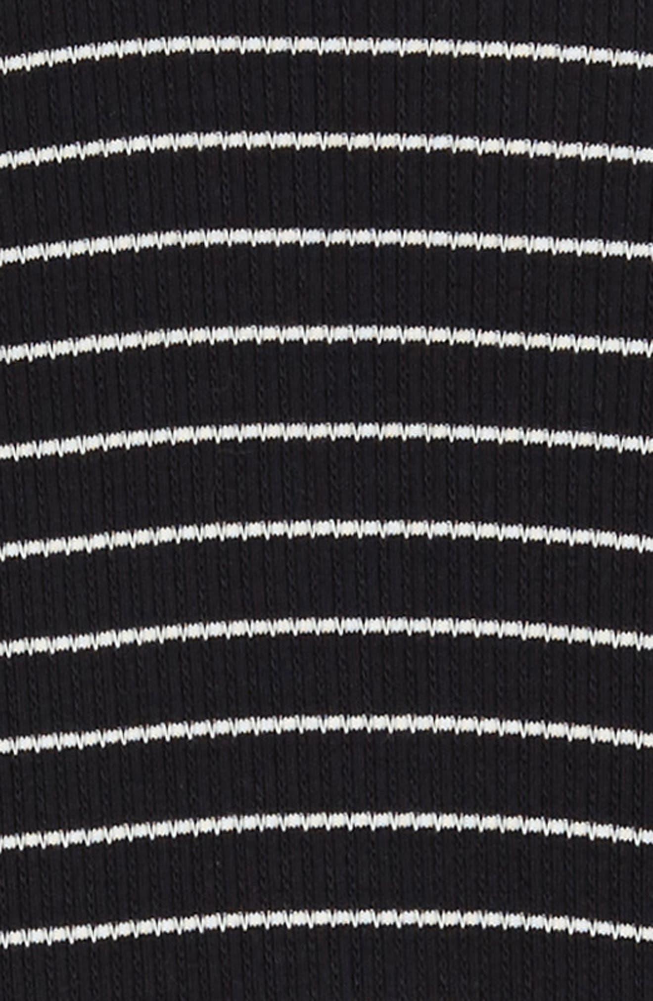 Millie Stripe Knit Dress,                             Alternate thumbnail 3, color,                             BLACK