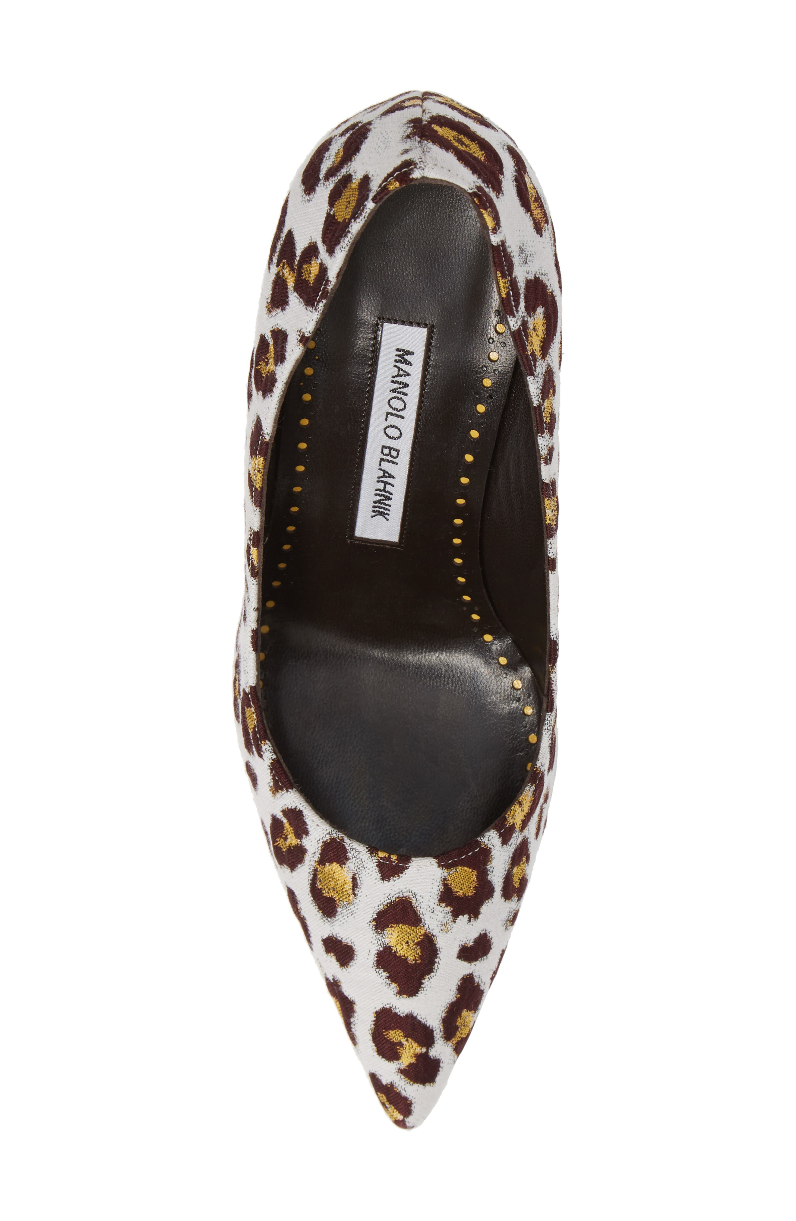 Pointy Toe Pump,                             Alternate thumbnail 5, color,                             LEOPARD