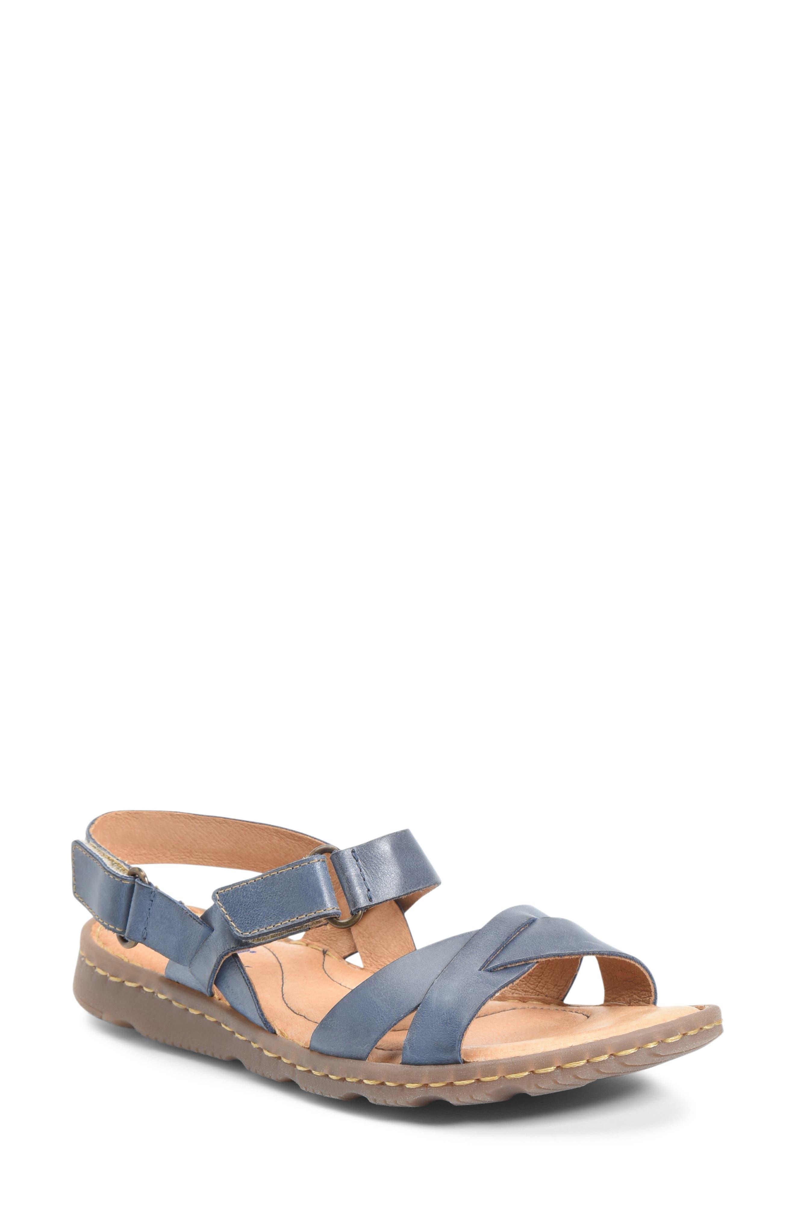 B?rn Jemez Cross Strap Sandal, Blue