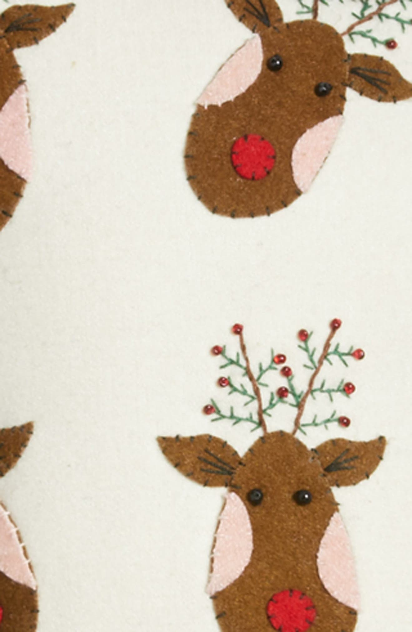 Reindeer Accent Pillow,                             Alternate thumbnail 3, color,                             WHITE