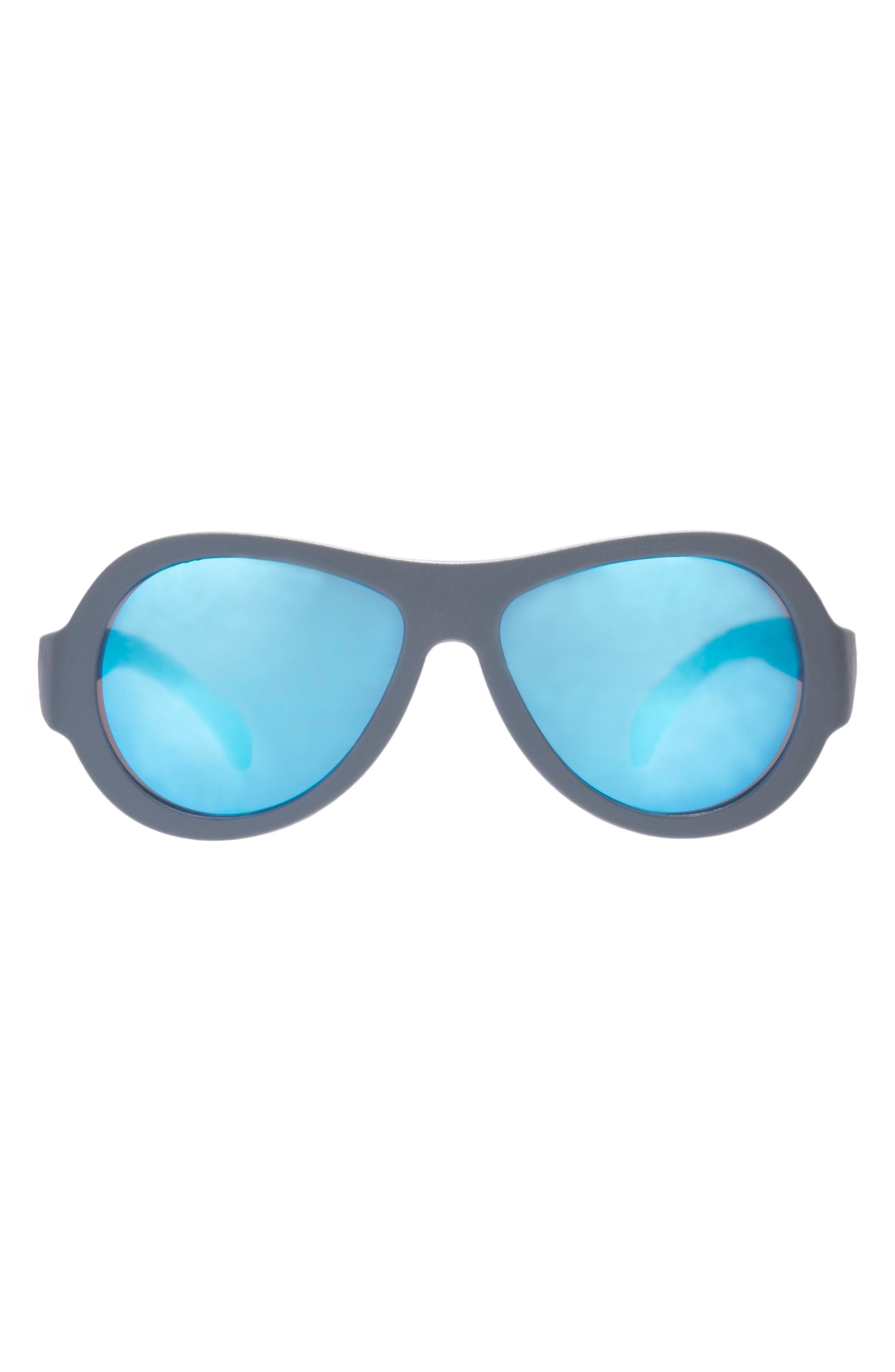 Original Aviator Sunglasses,                             Alternate thumbnail 4, color,                             BLUE STEEL