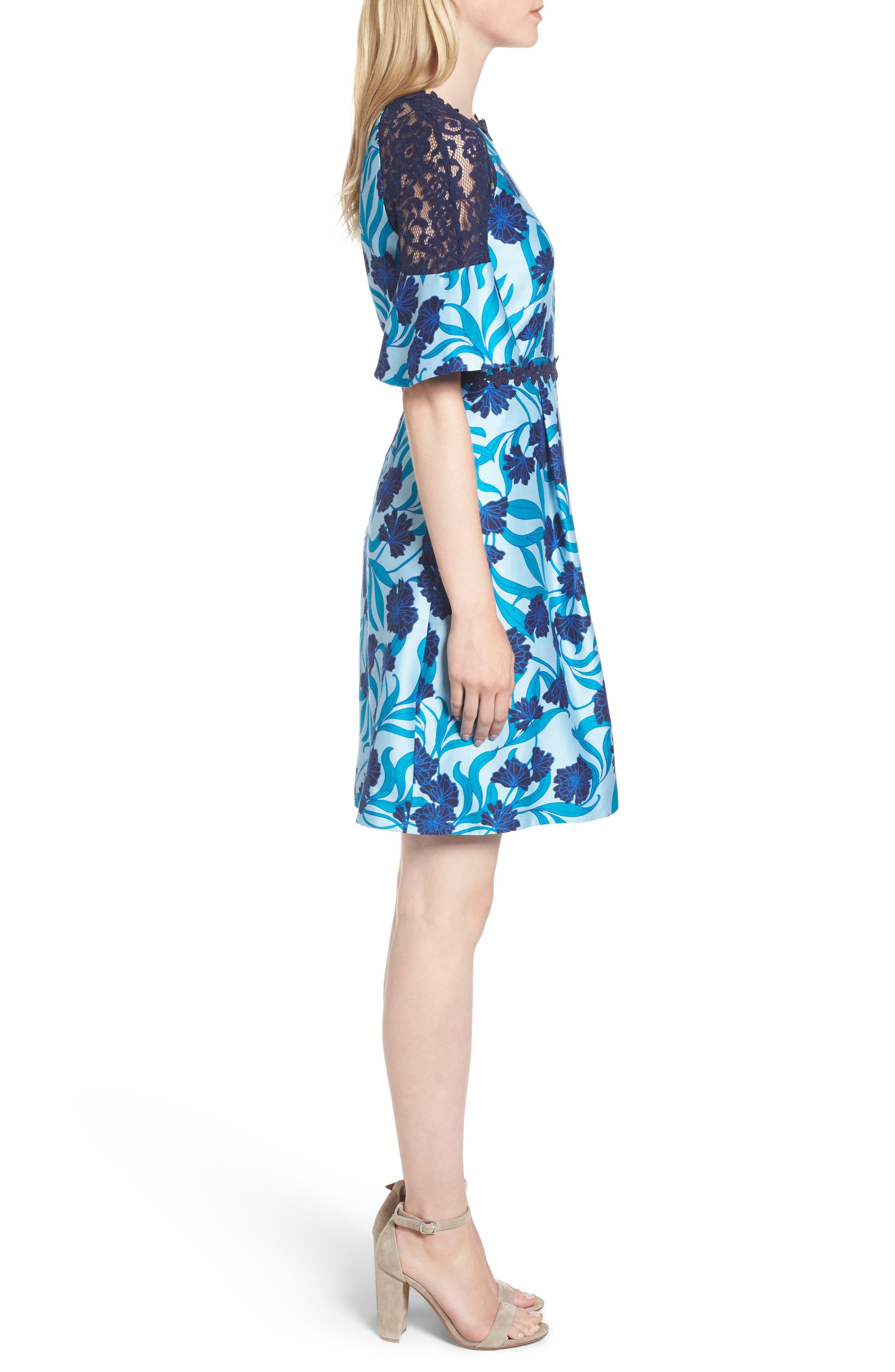 Maggie Buttercup Bloom Dress,                             Alternate thumbnail 3, color,                             404