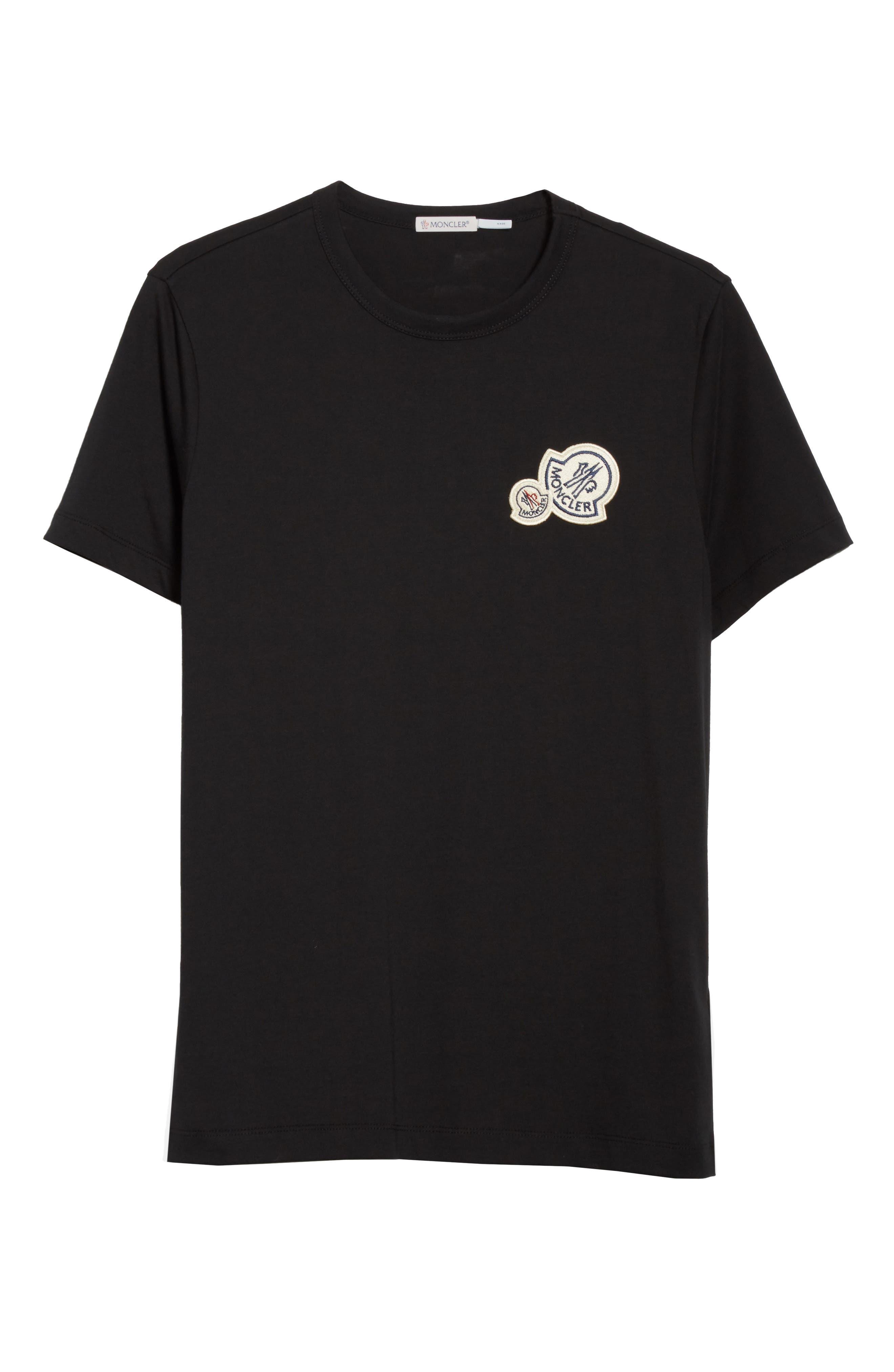 Patch Detail T-Shirt,                             Alternate thumbnail 6, color,                             001