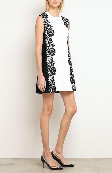 Lace Side Contrast Shift Dress, video thumbnail