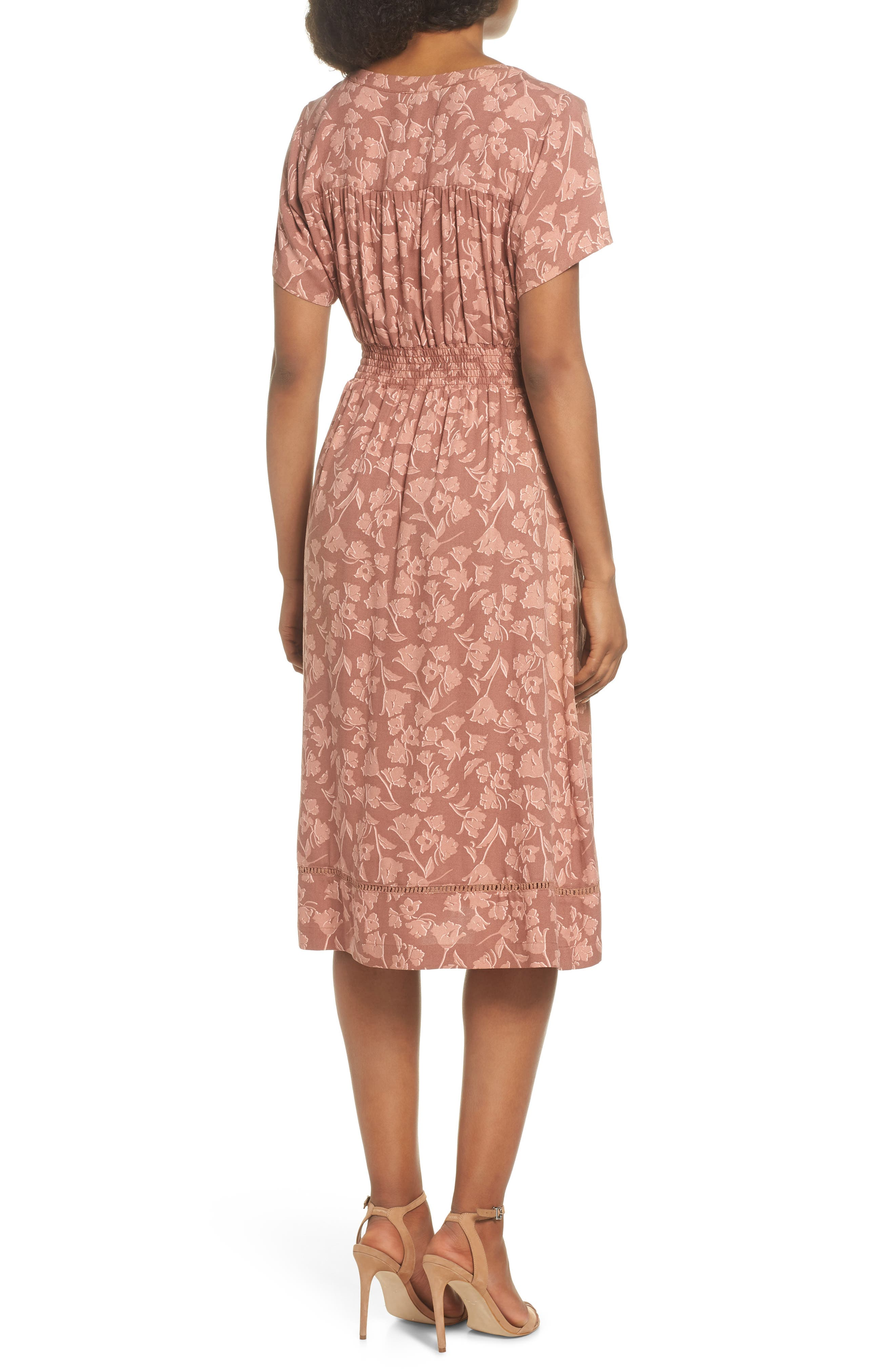 Farrell Floral Smock Waist Dress,                             Alternate thumbnail 2, color,