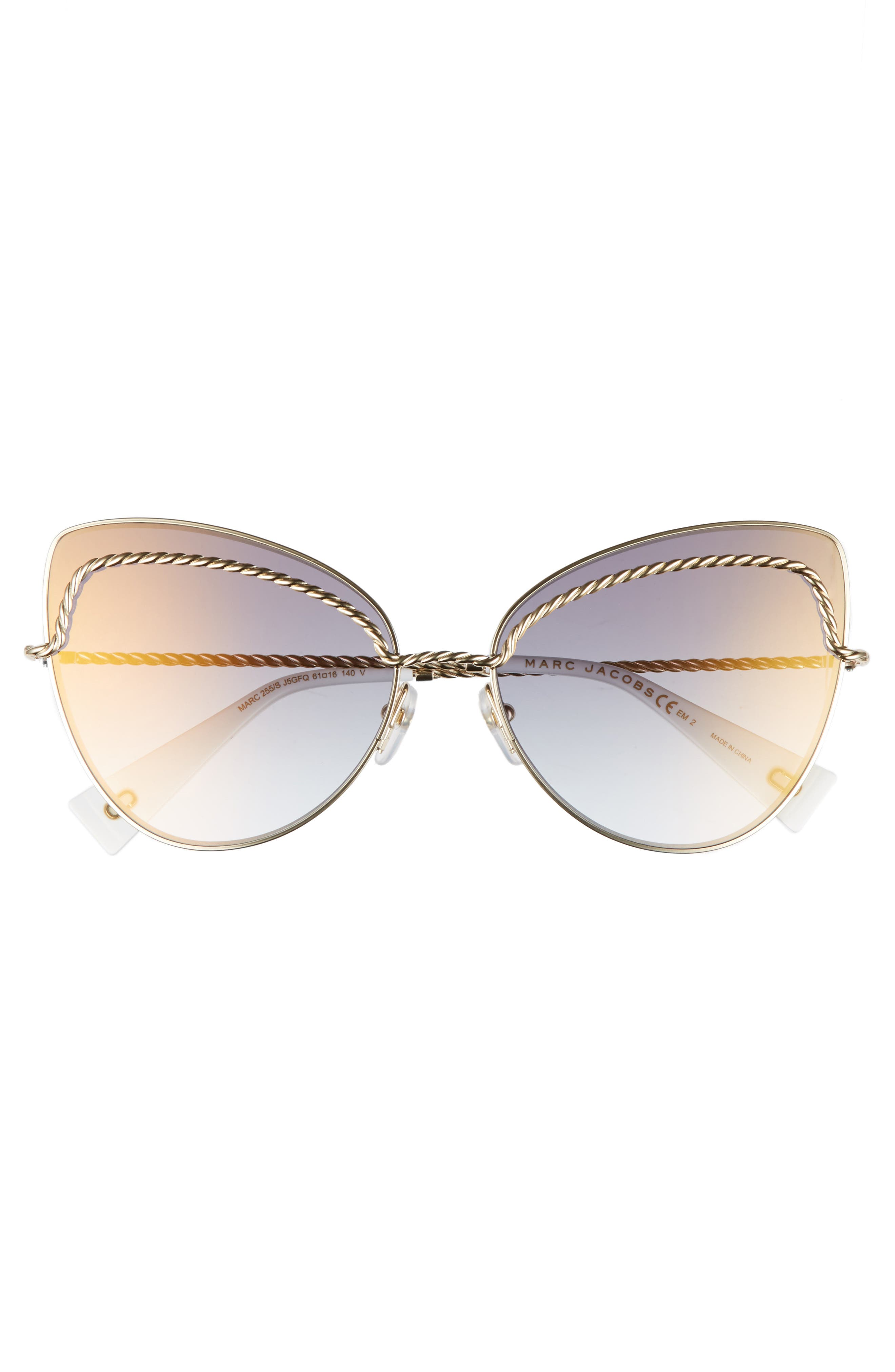 61mm Butterfly Sunglasses,                             Alternate thumbnail 6, color,