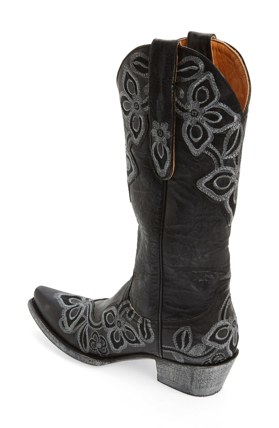 'Marrione' Western Boot,                             Alternate thumbnail 4, color,                             001