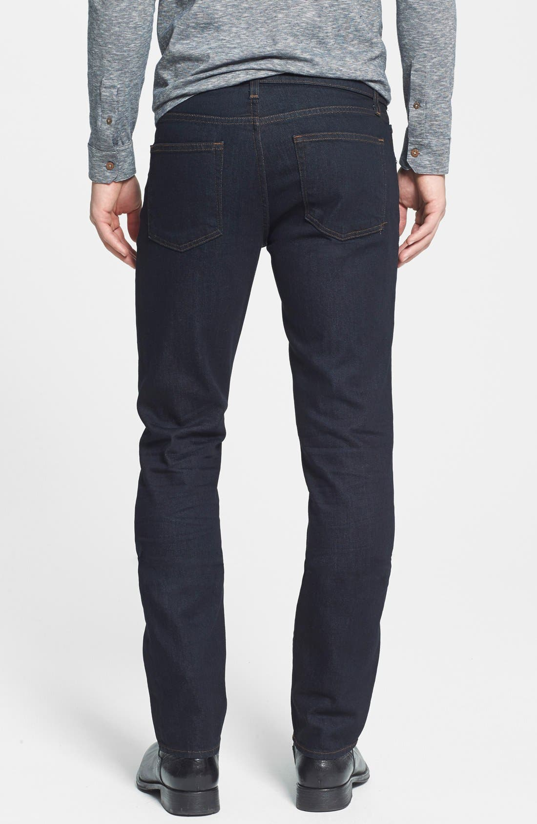 'Tyler' Slim Fit Coated Jeans,                             Alternate thumbnail 3, color,                             412