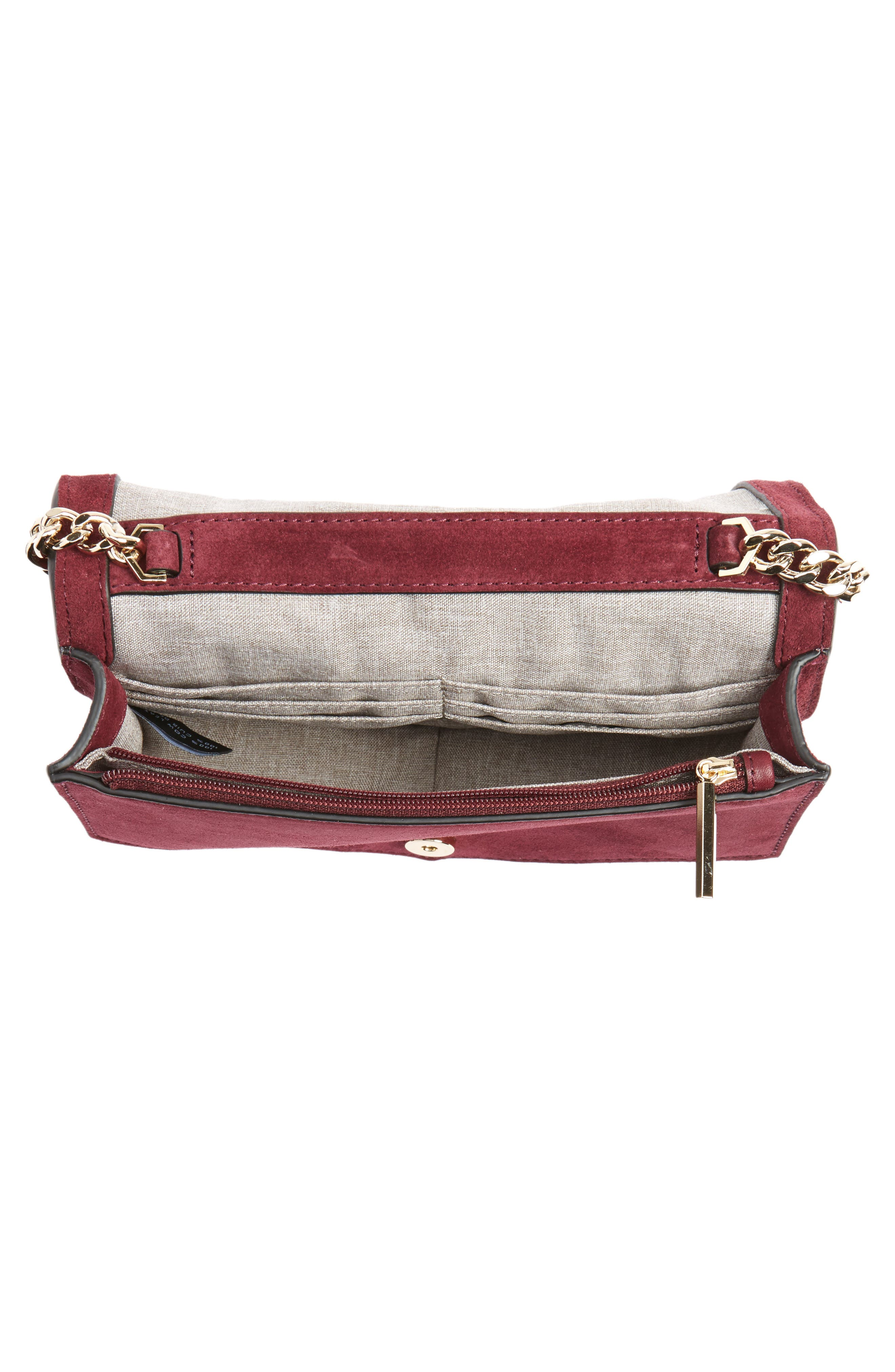 Jaunt Woven Calfskin Suede Wallet on a Chain,                             Alternate thumbnail 8, color,