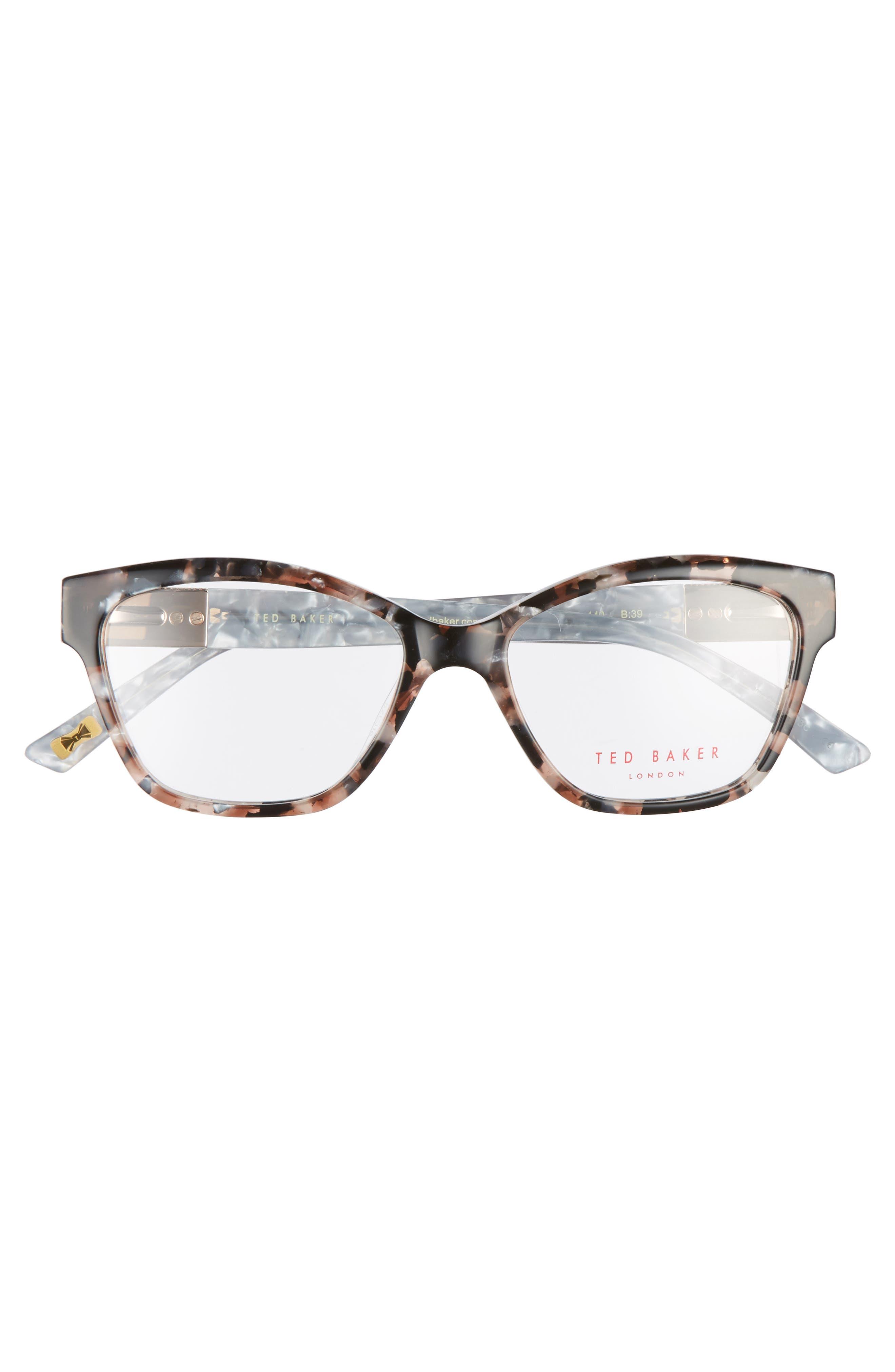 52mm Optical Cat Eye Glasses,                             Alternate thumbnail 3, color,                             650