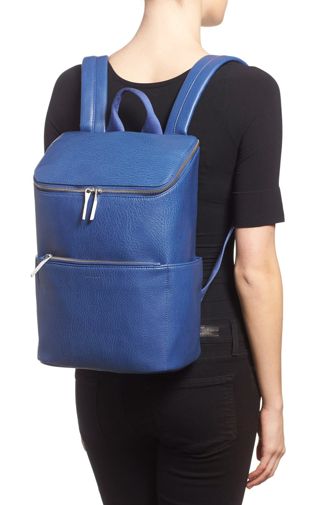 'Brave' Faux Leather Backpack,                             Alternate thumbnail 57, color,