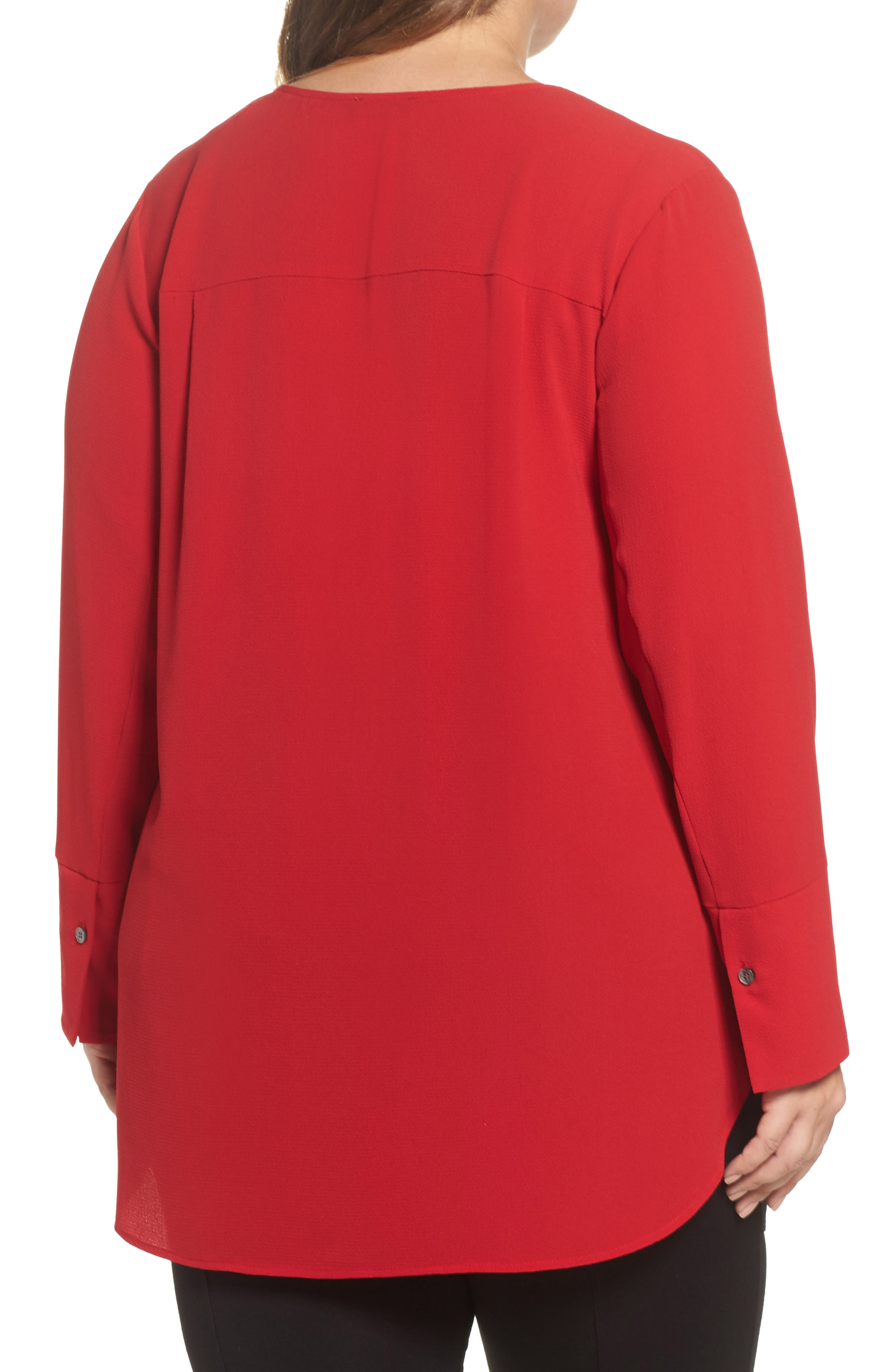 Double V-Neck Blouse,                             Alternate thumbnail 5, color,