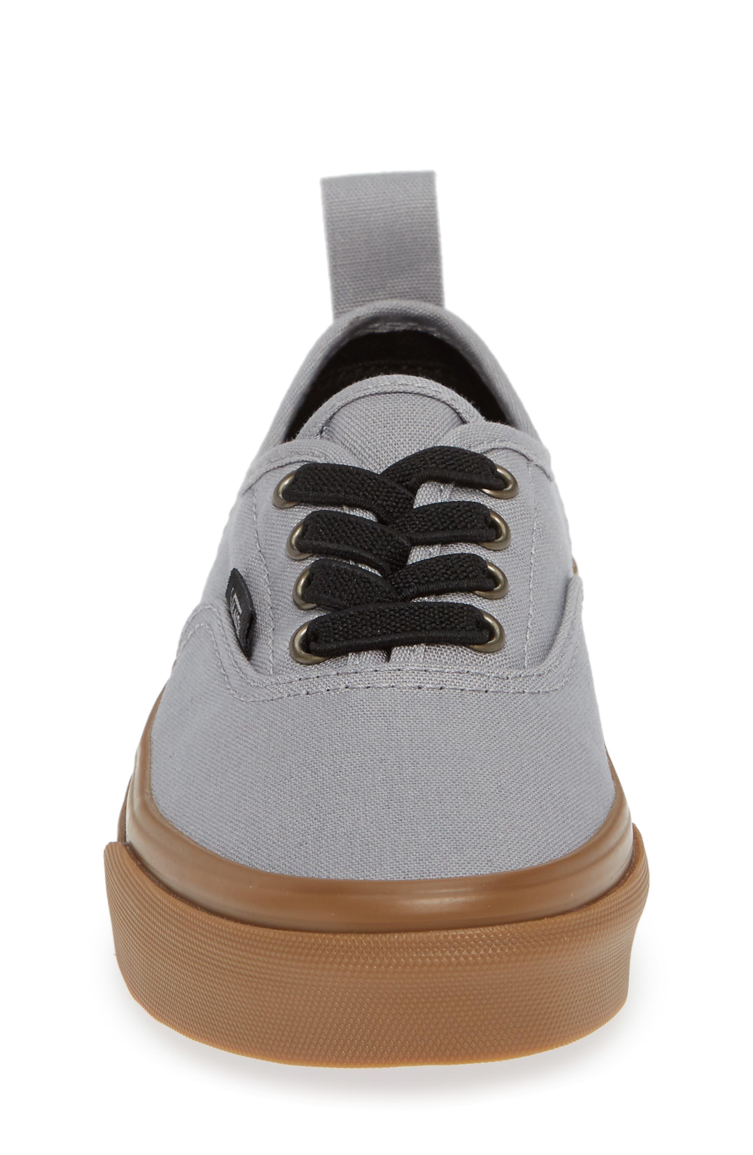 Authentic Sneaker,                             Alternate thumbnail 4, color,                             GUM OUTSOLE ALLOY/ BLACK