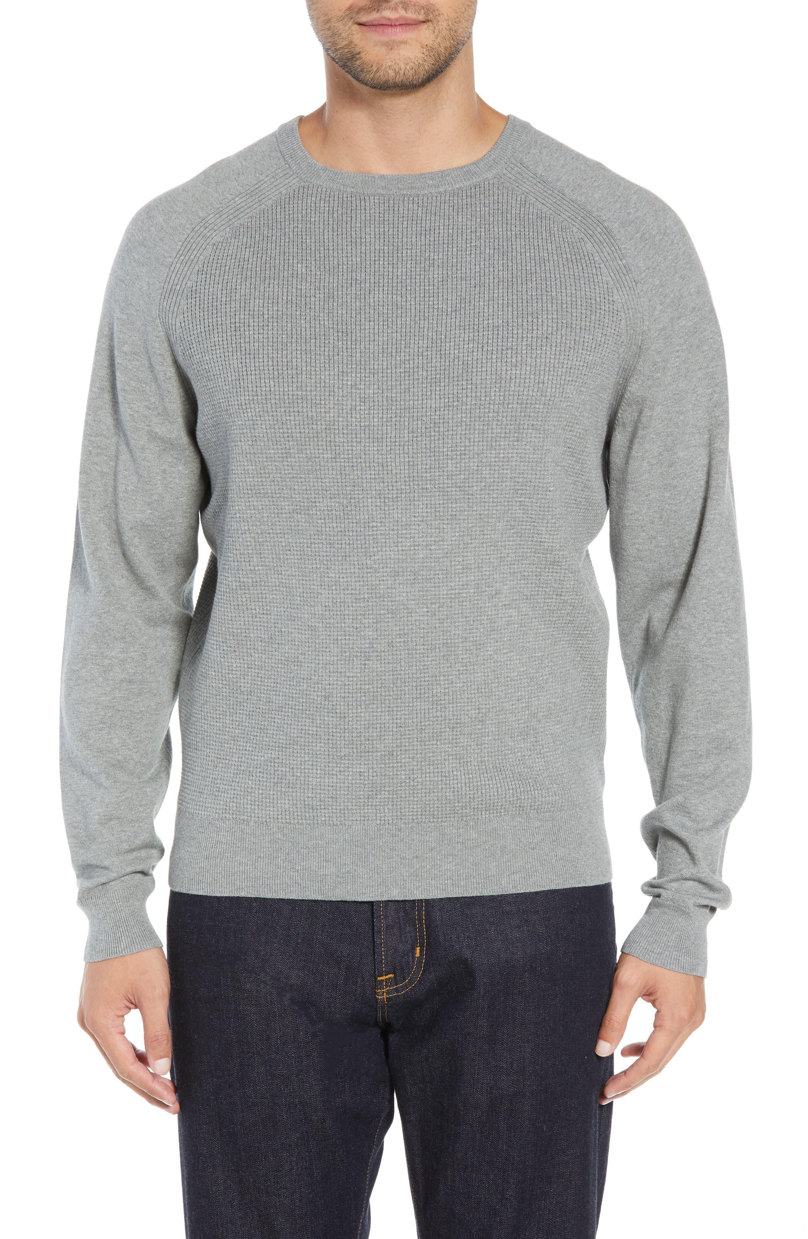 Big & Tall Cutter & Buck Lakemon Mix Crewneck Sweater, Grey