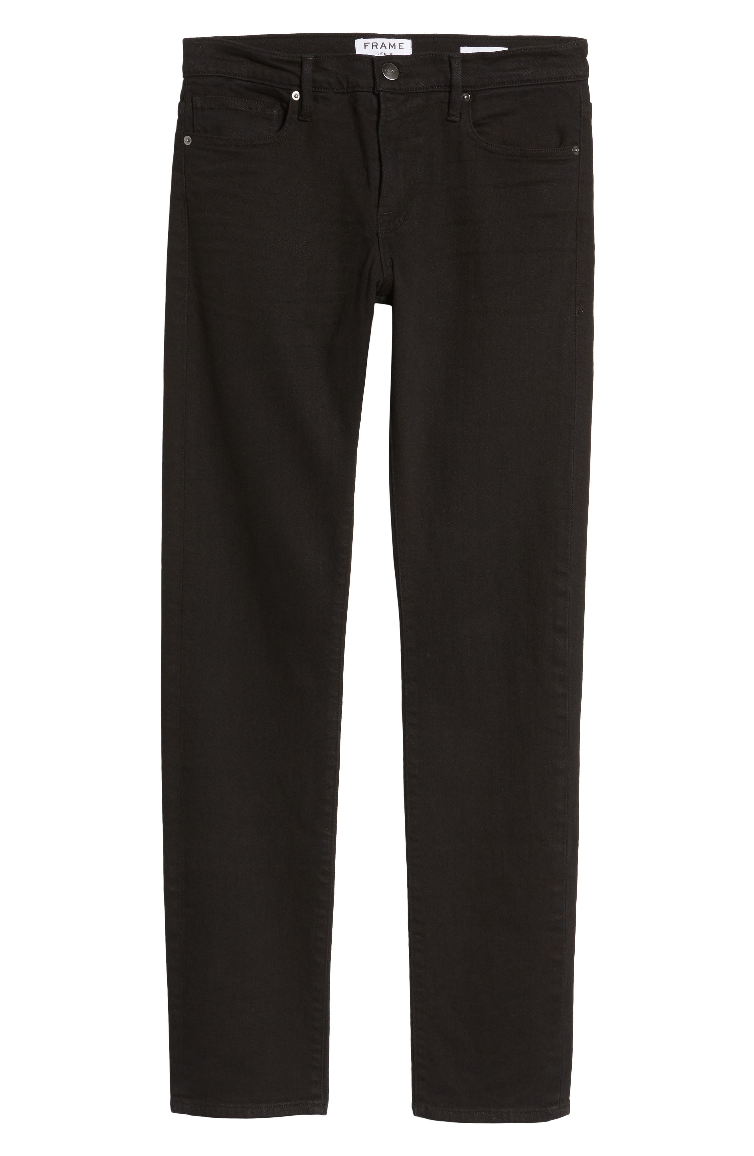 L'Homme Slim Fit Jeans,                             Alternate thumbnail 6, color,                             NOIR