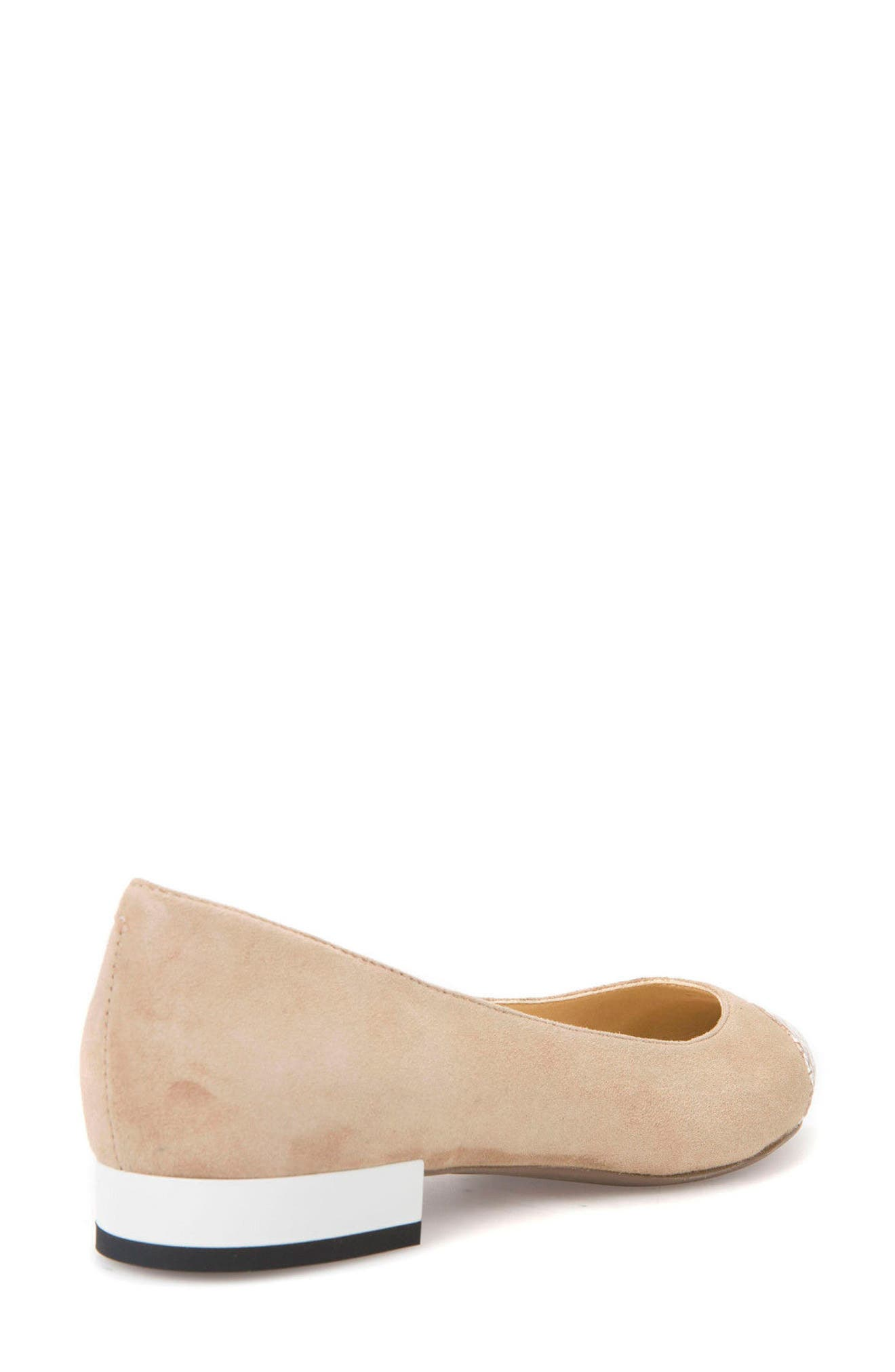 Charyssa Flat,                             Alternate thumbnail 2, color,                             BEIGE LEATHER