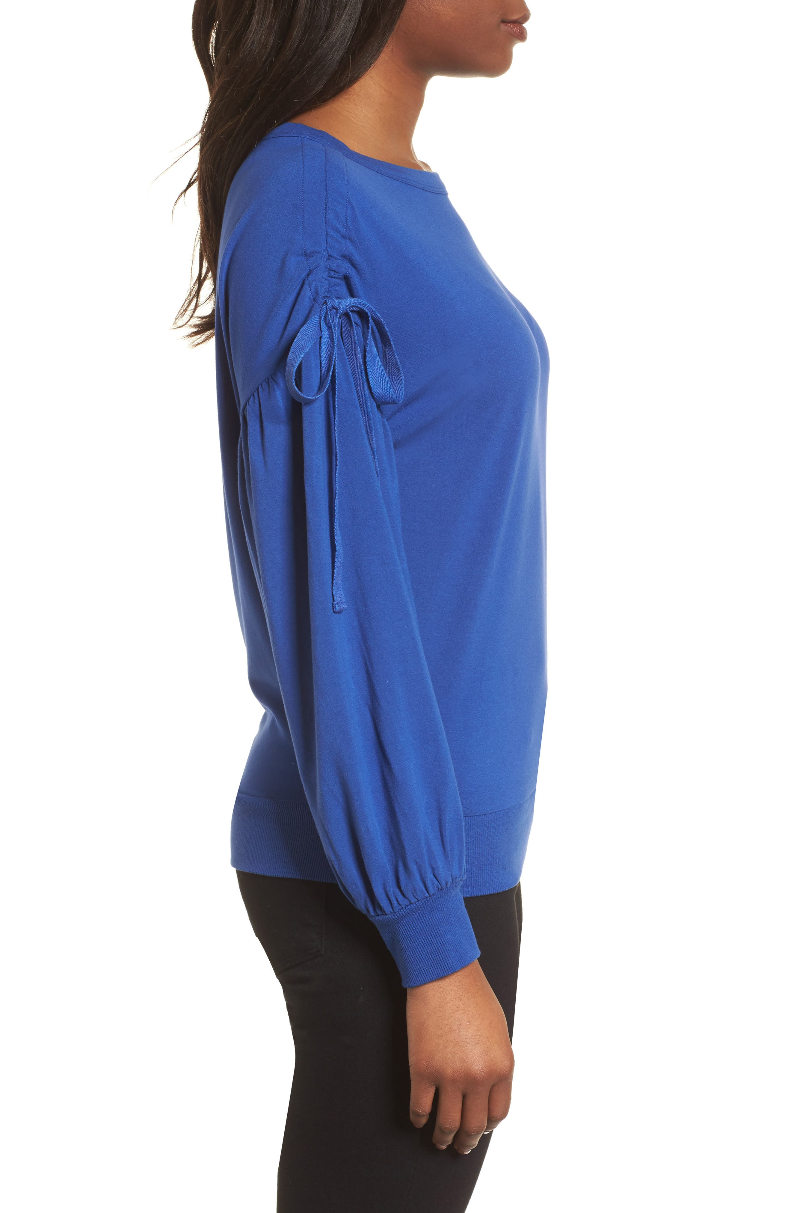 Ruched Bow Sleeve Top,                             Alternate thumbnail 11, color,
