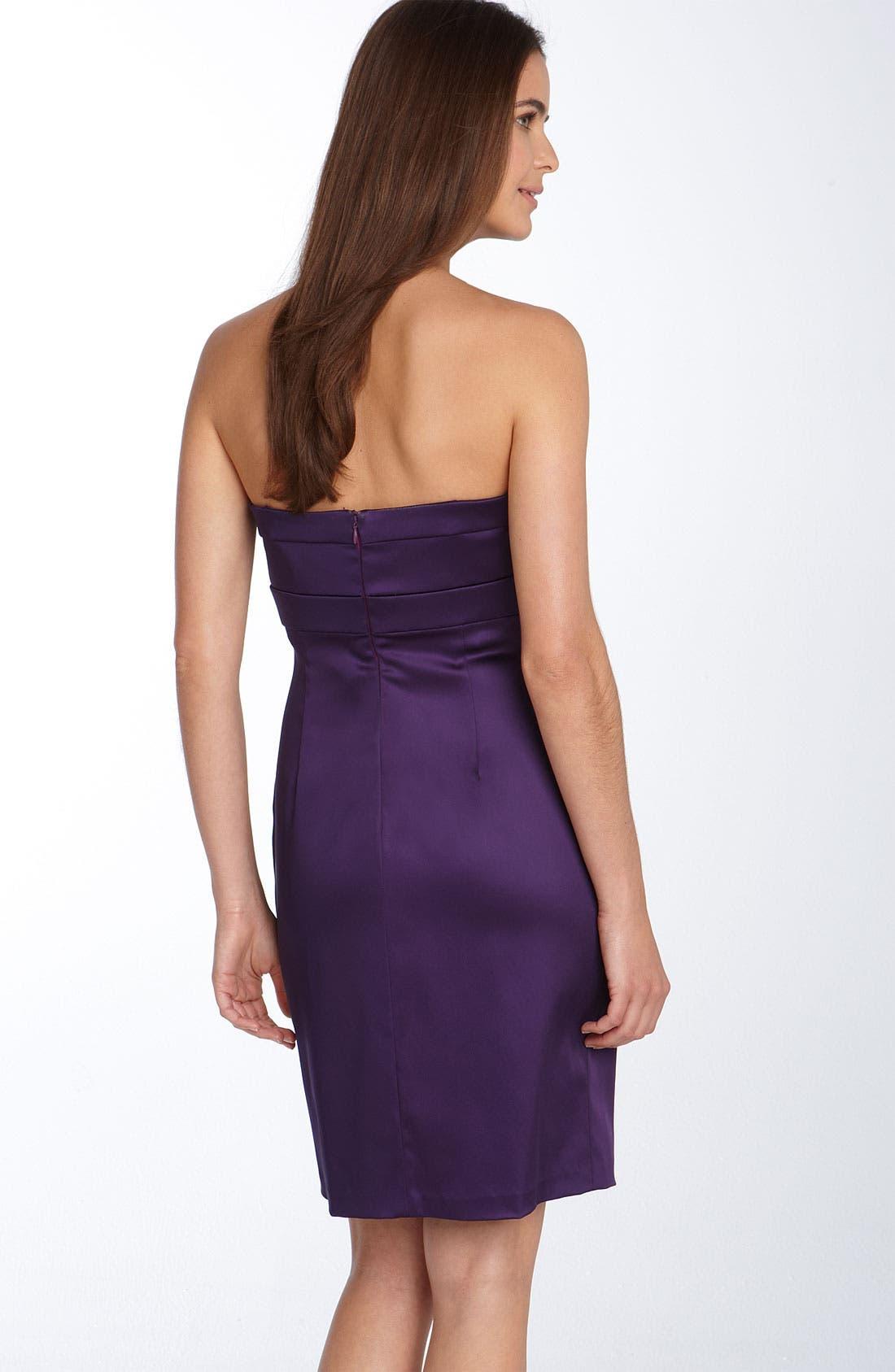Embellished Stretch Satin Sheath Dress,                             Alternate thumbnail 2, color,                             524