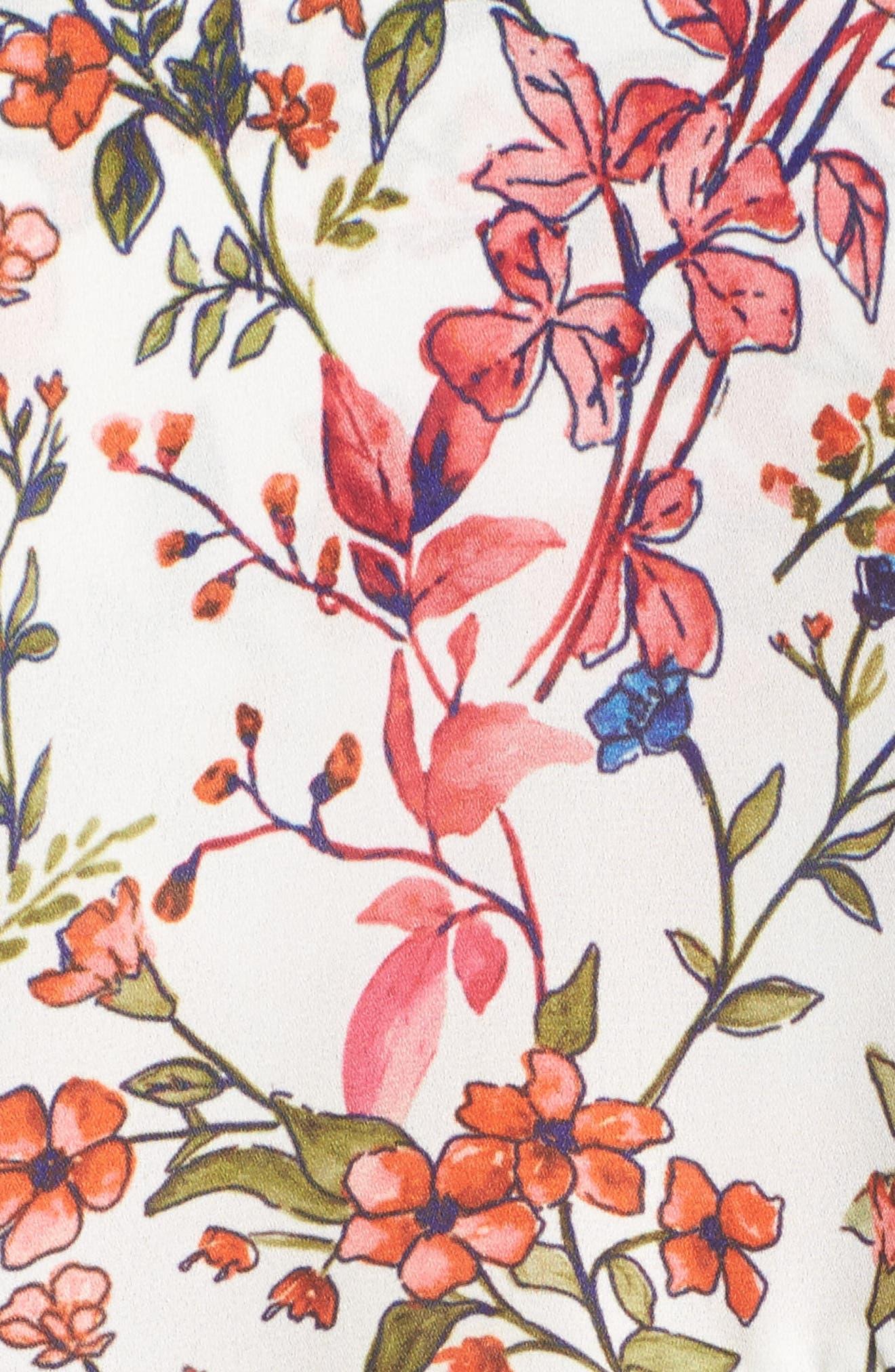 Floral Print Minidress,                             Alternate thumbnail 5, color,                             152