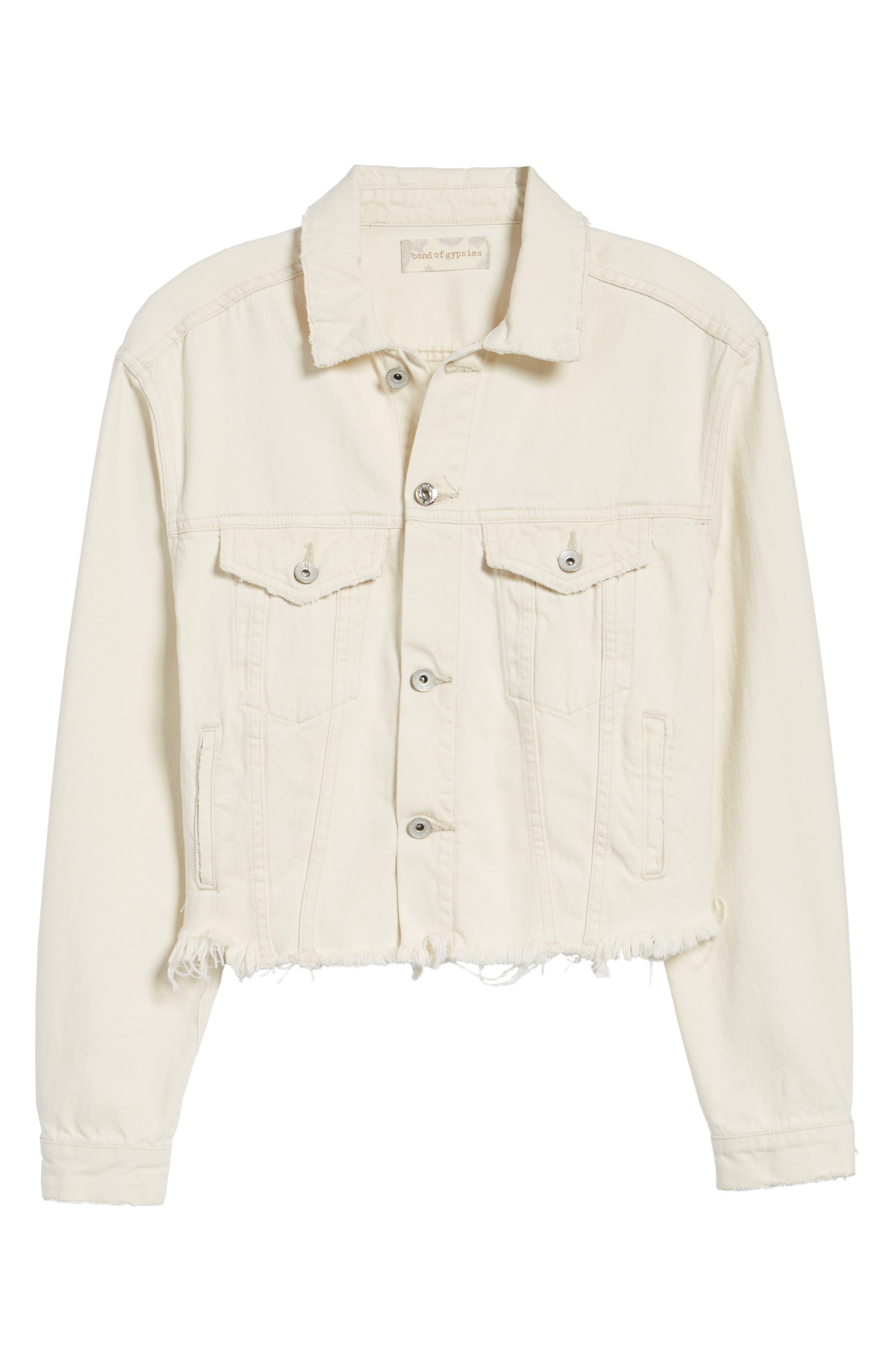 Bailey Cutoff Denim Jacket,                             Alternate thumbnail 5, color,                             900