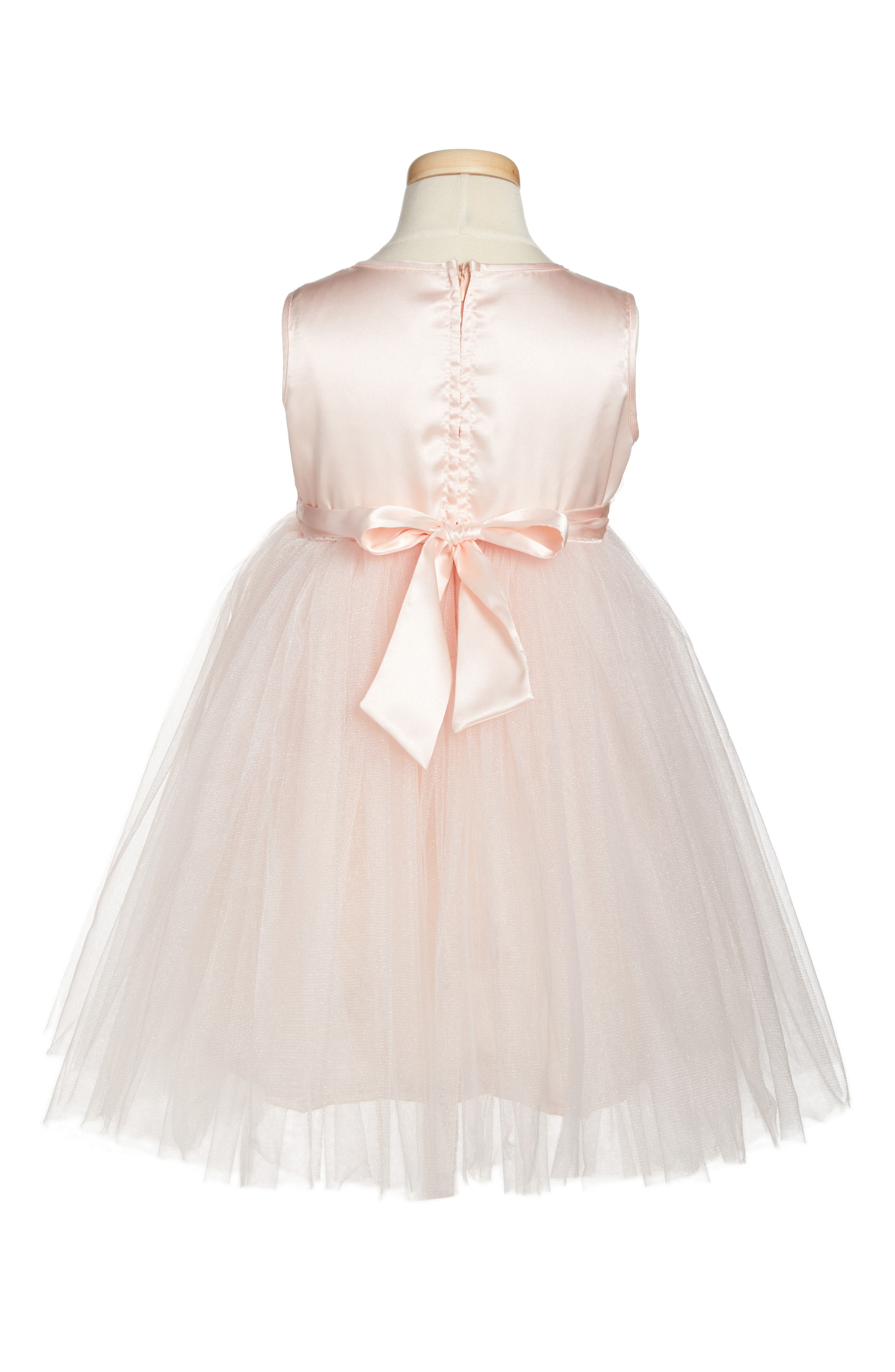 Floral Tulle Dress,                             Alternate thumbnail 2, color,                             PINK