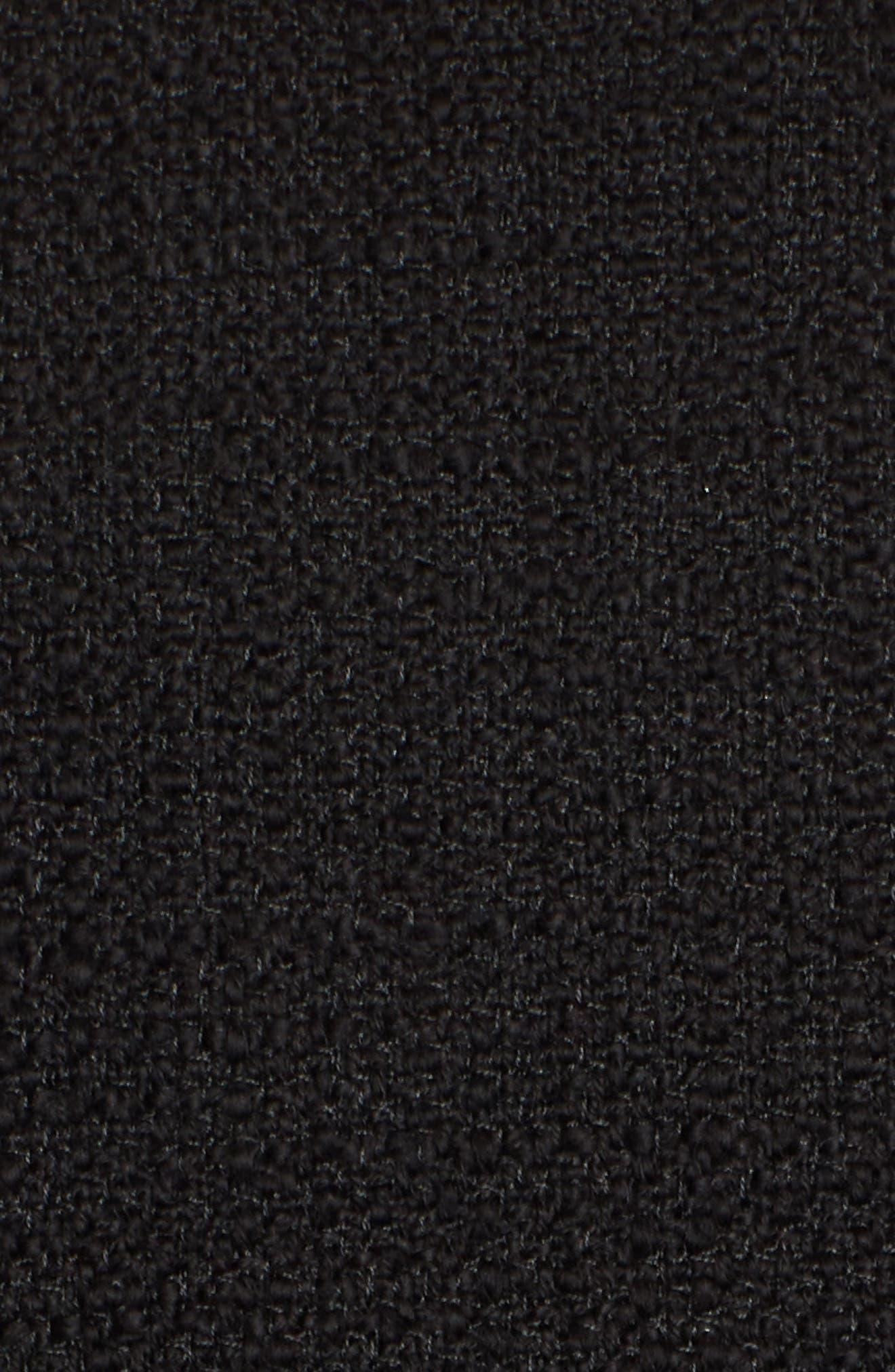 KARL LAGERFELD PARIS,                             Tweed Moto Jacket,                             Alternate thumbnail 7, color,                             001