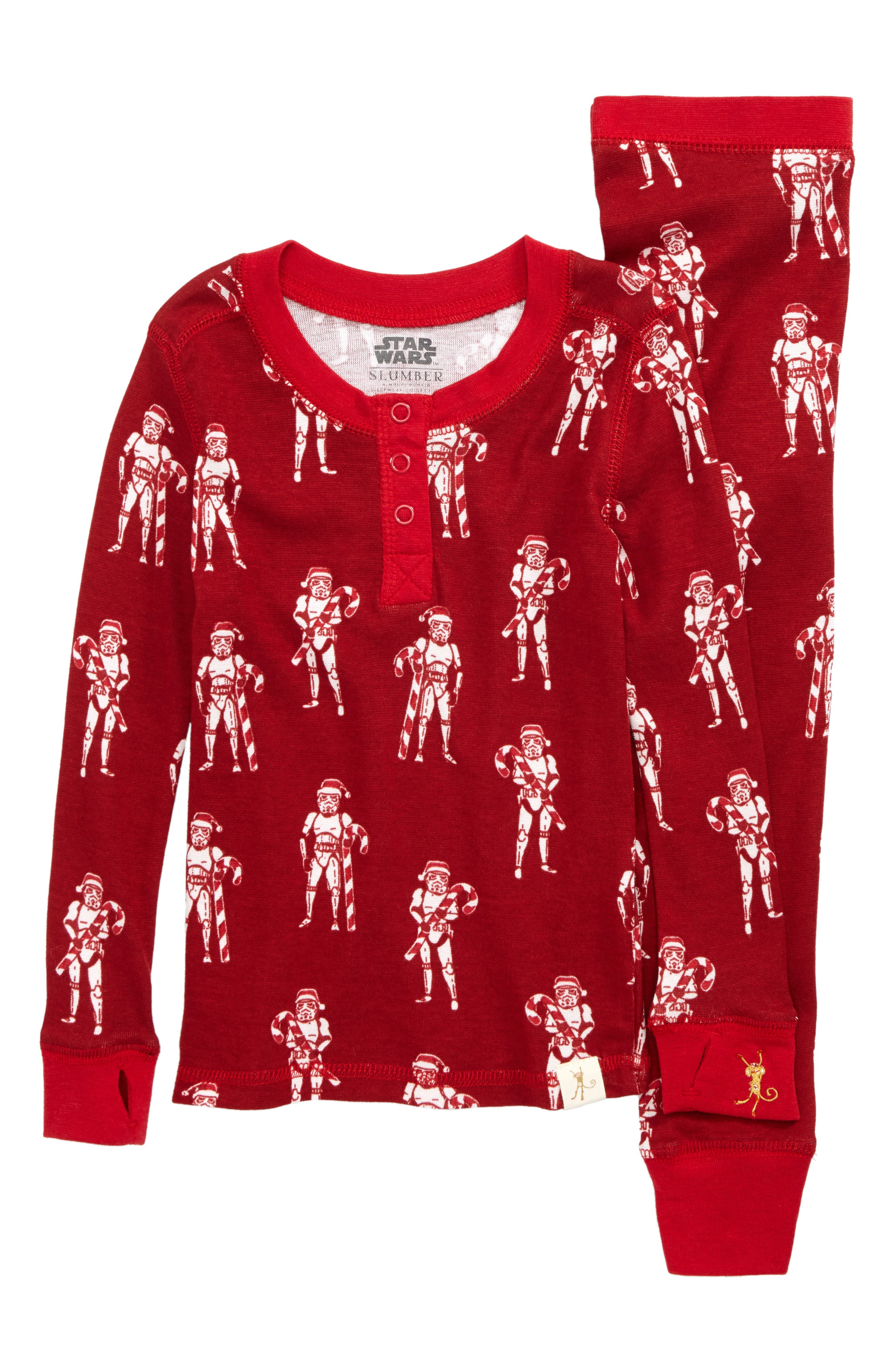 Star Wars<sup>™</sup> - Stormtroopers Fitted Two-Piece Pajamas,                             Main thumbnail 1, color,                             600