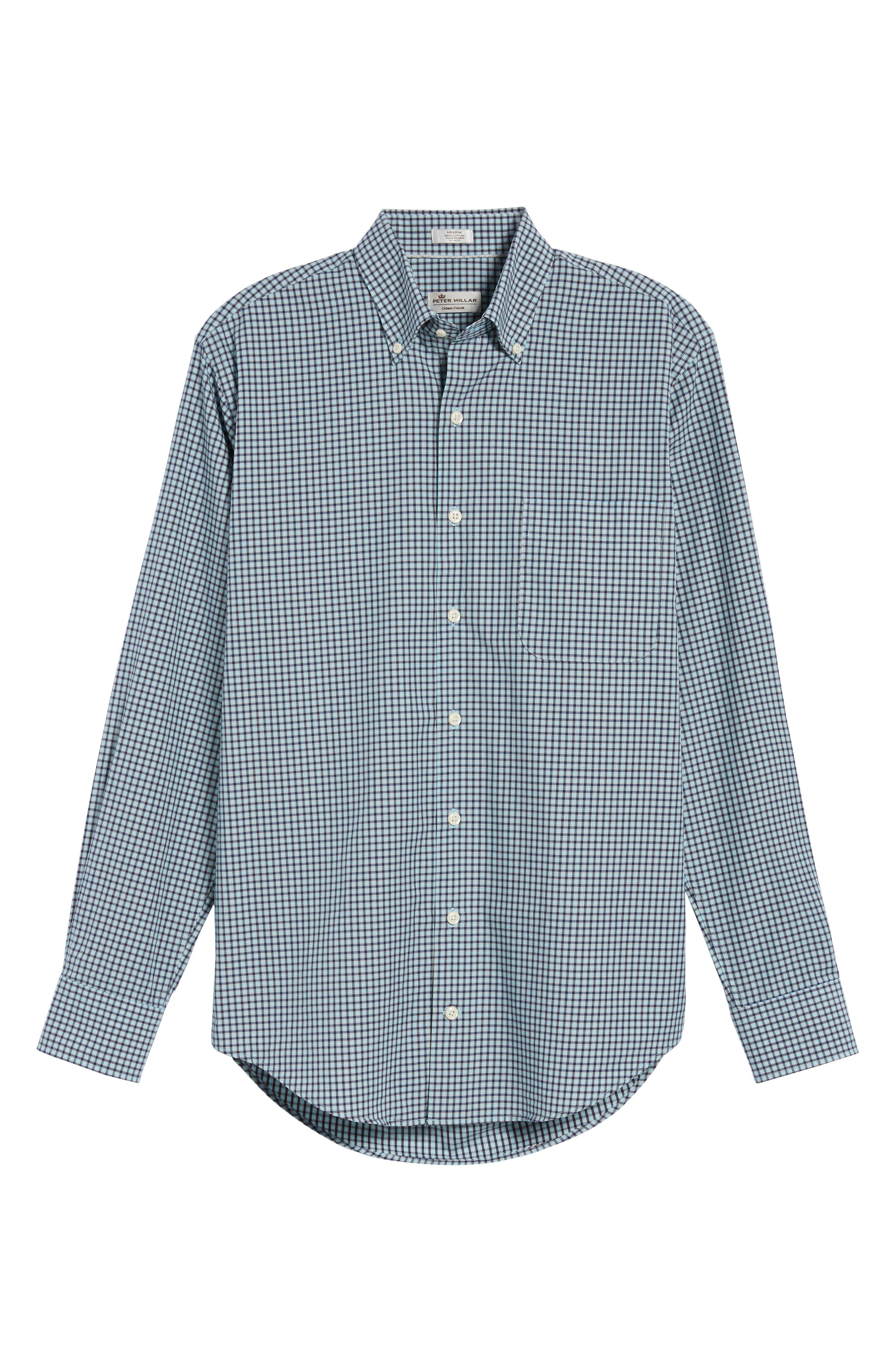 Classic Fit Alligator Check Sport Shirt,                             Alternate thumbnail 17, color,