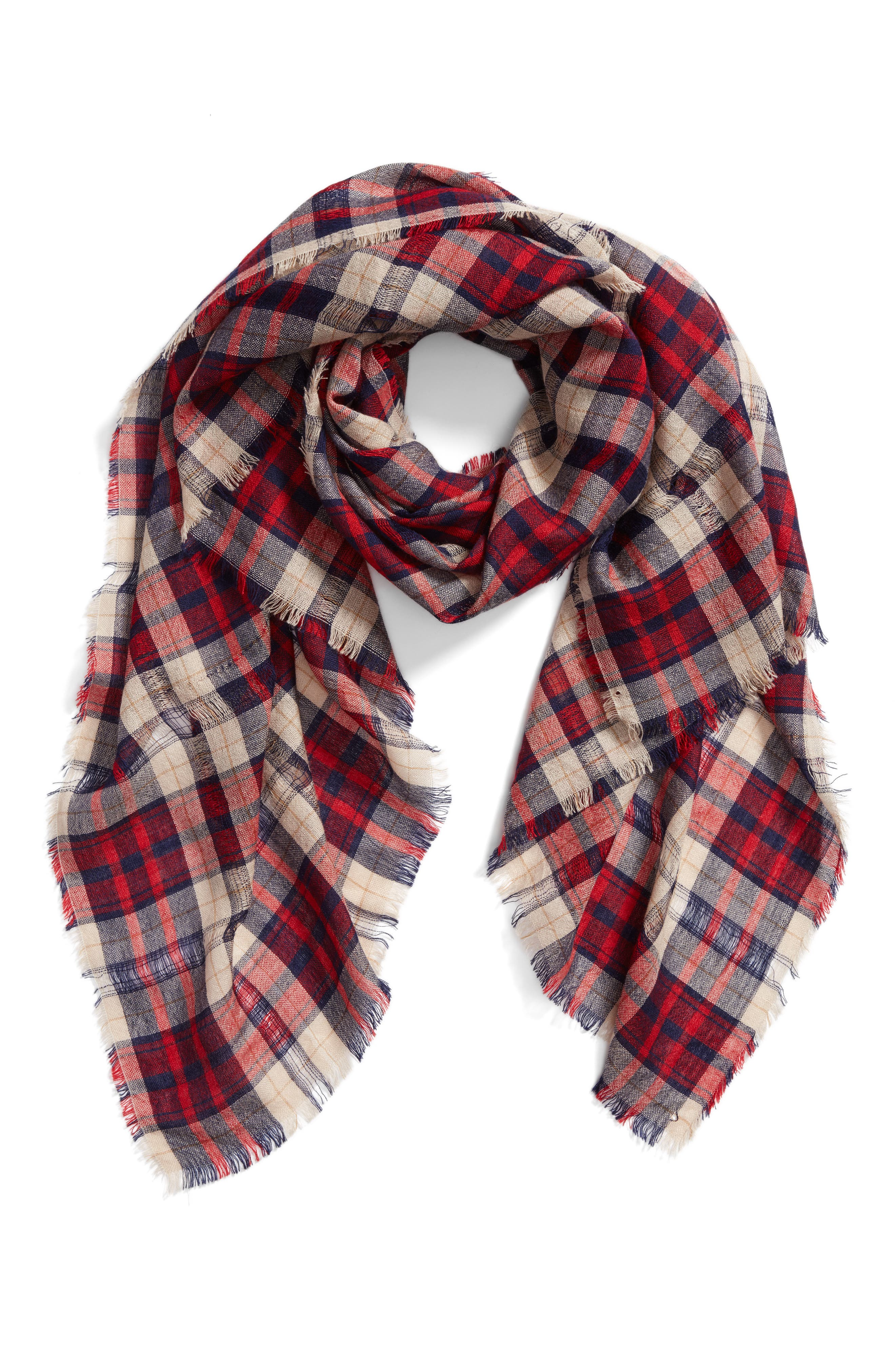 Christy Check Scarf,                             Alternate thumbnail 2, color,                             600