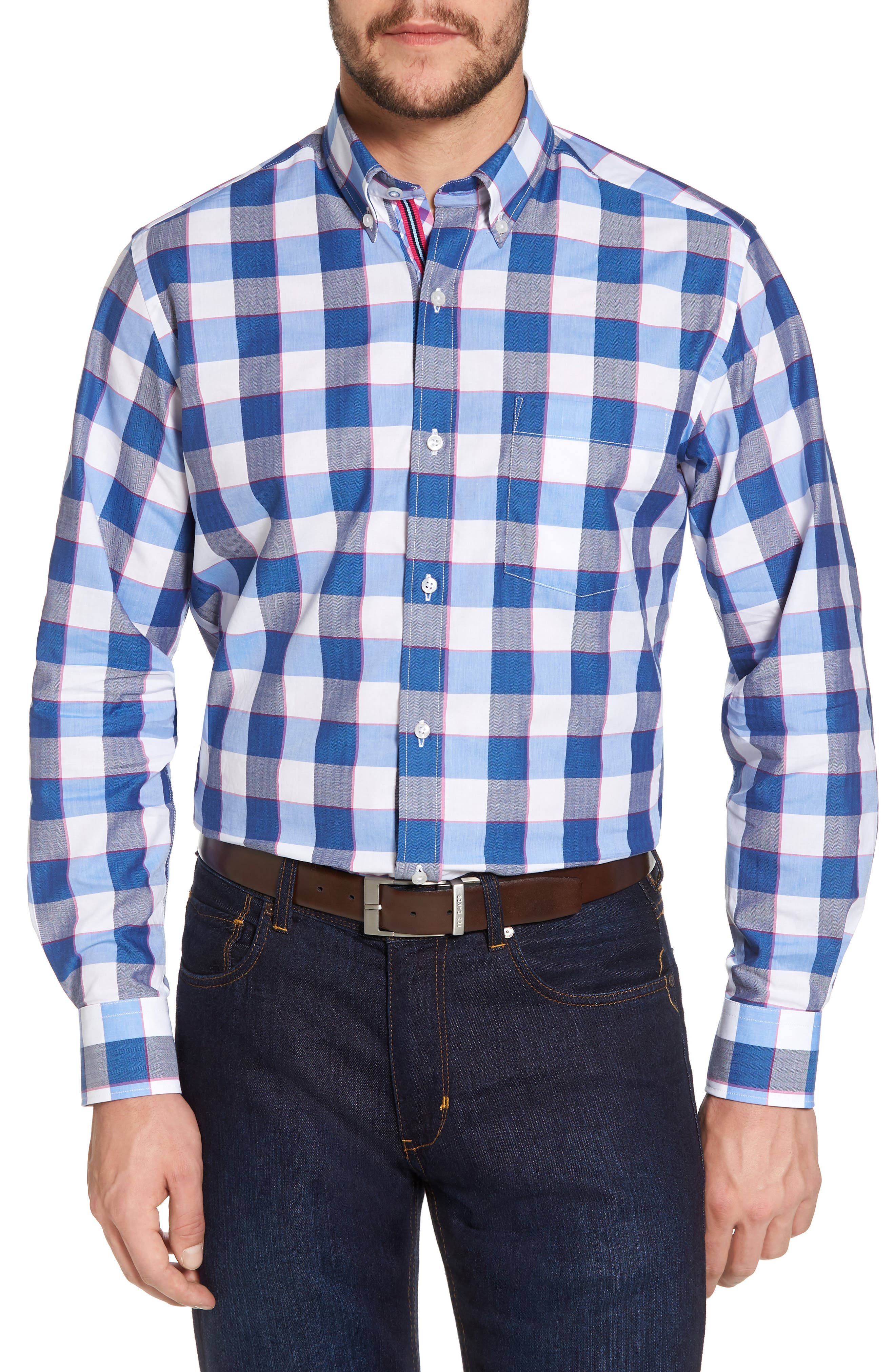 Jeremy Regular Fit Check Sport Shirt,                             Main thumbnail 1, color,