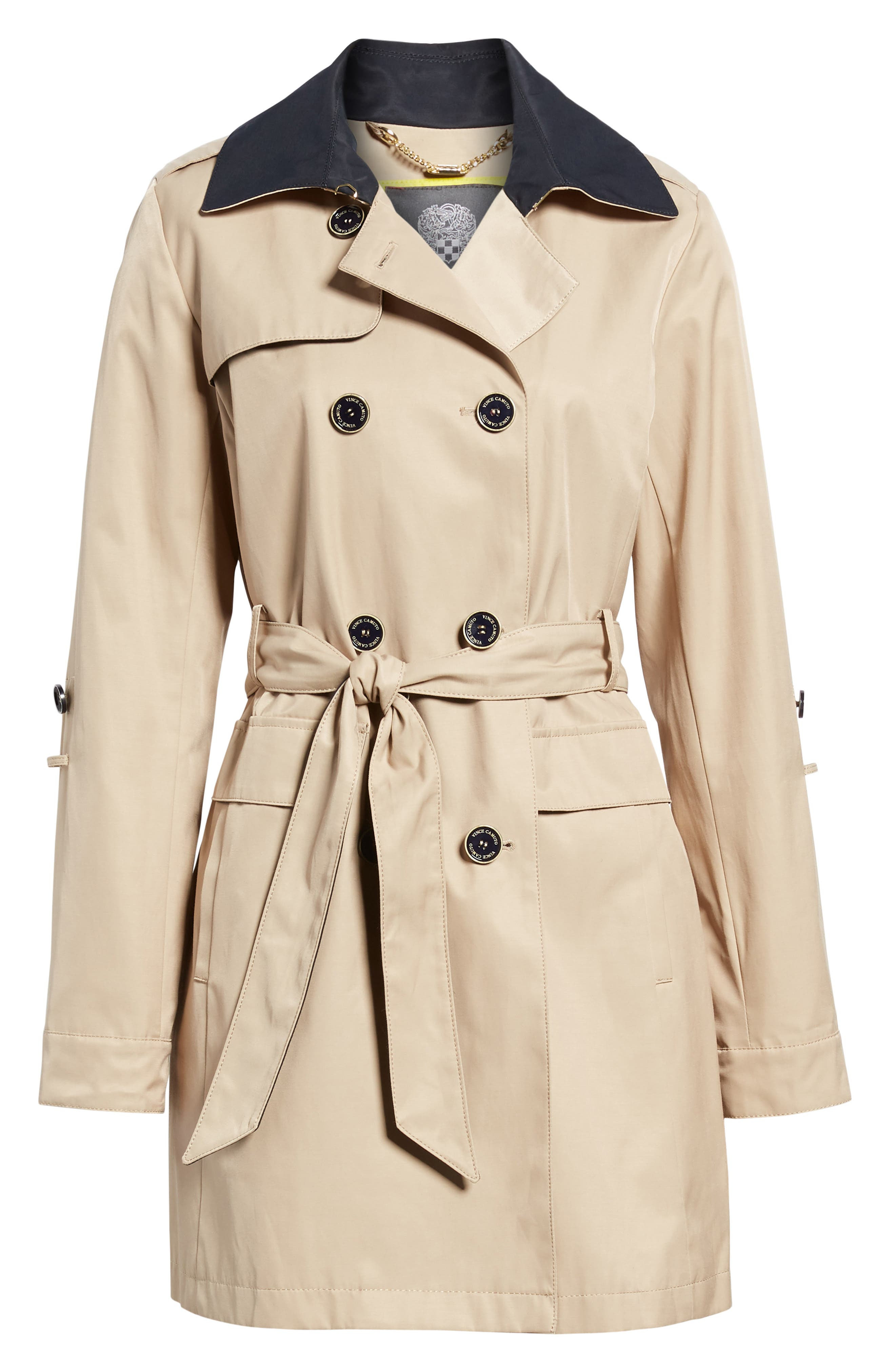 Contrast Collar Trench Coat,                             Alternate thumbnail 5, color,                             259